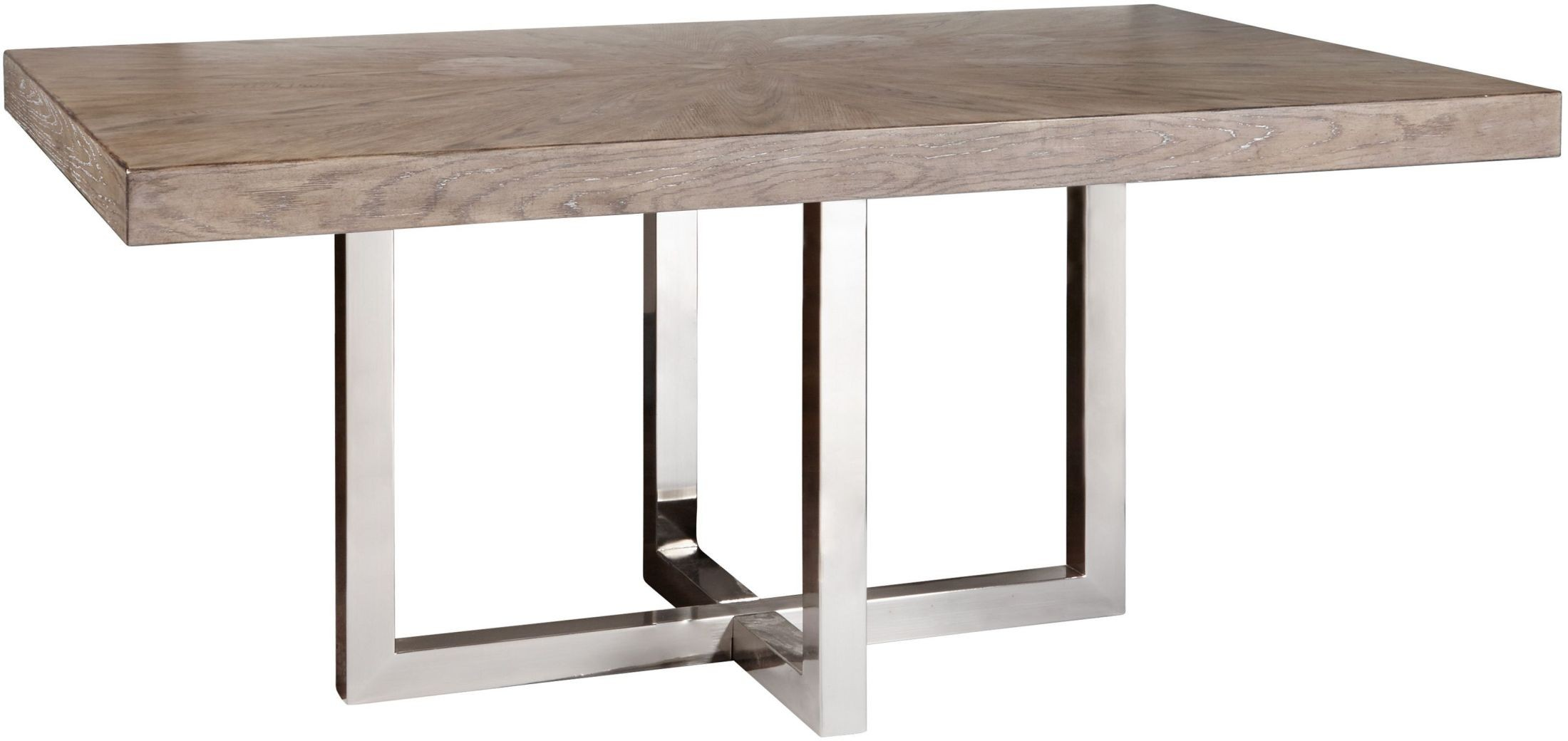Highland Park Aged Light Brown Chrome Dining Table from  : s122 133a133bs21 from colemanfurniture.com size 2200 x 1040 jpeg 165kB