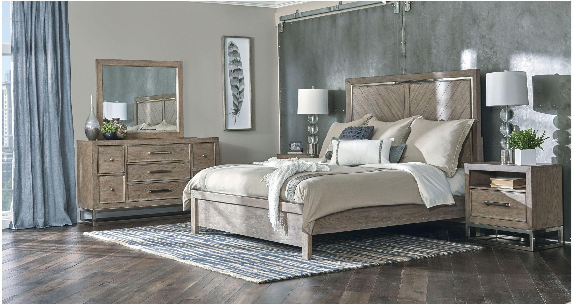 Highland Park Aged Light Brown Panel Bedroom Set from ...