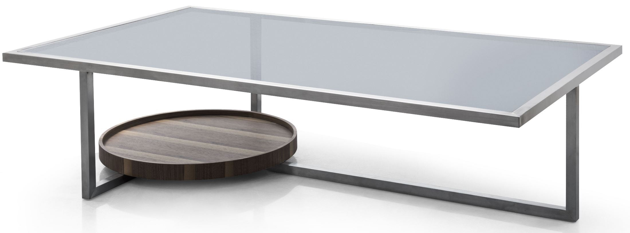 Sabrina Stainless Steel Coffee Table From Bellini Modern Living Coleman Furniture