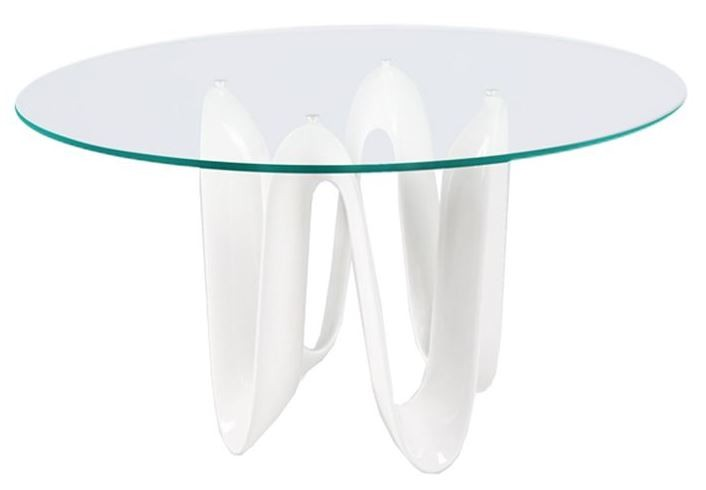 Sapphire white 52 round dining table from bellini modern for Round table 52 nordenham