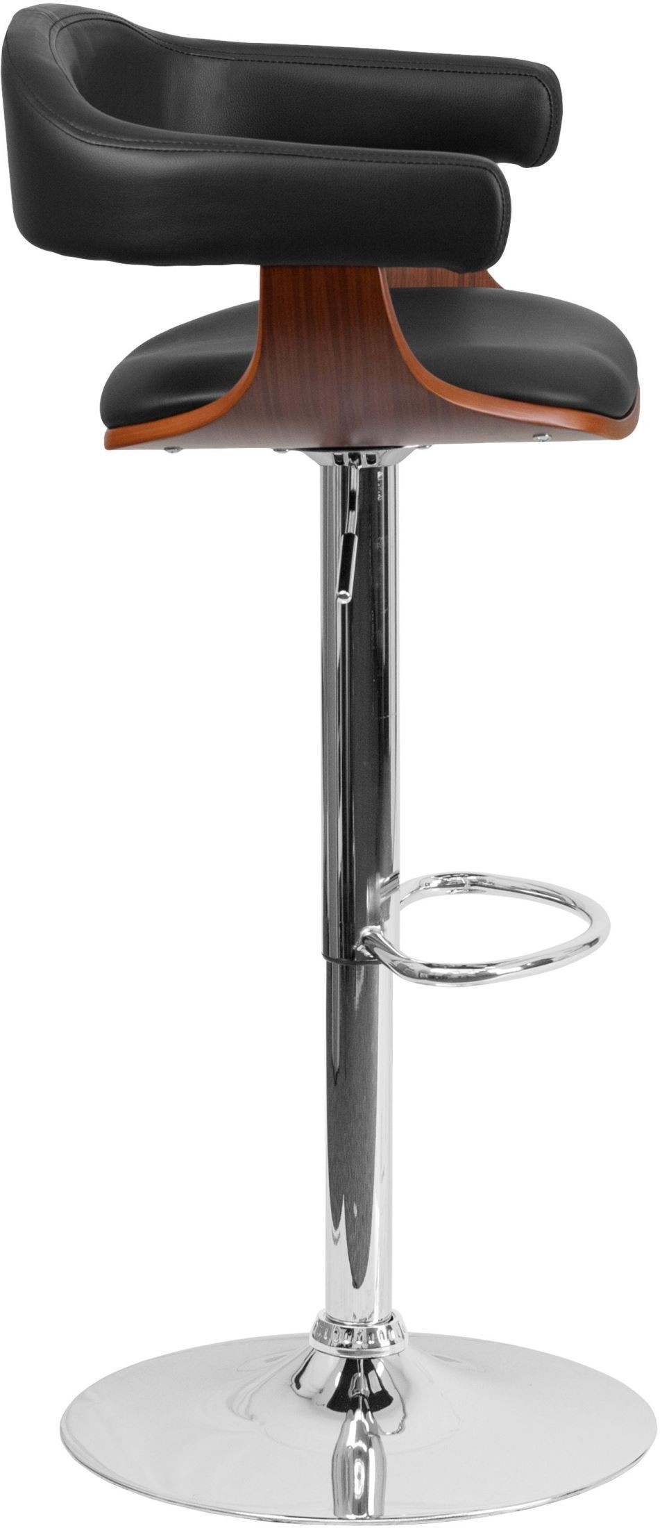 32384 Walnut Bentwood Adjustable Height Bar Stool From
