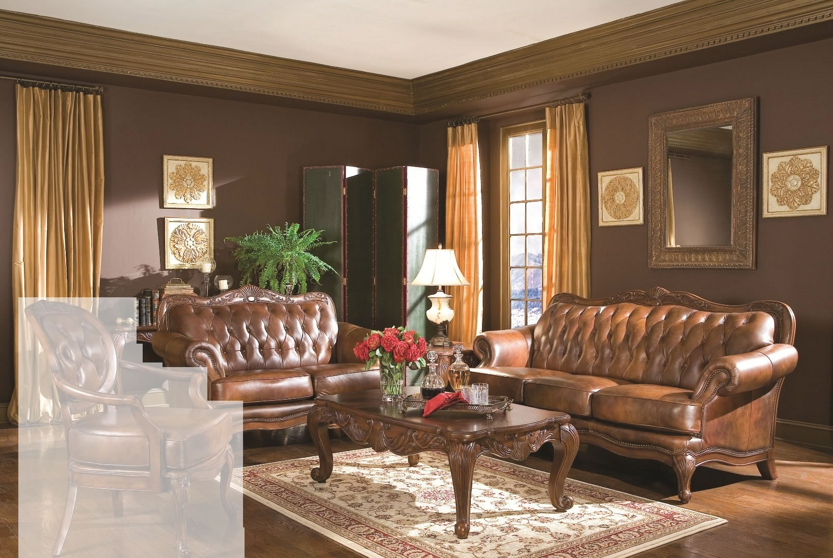 Victoria Living Room Set 50068 From Coaster 50068