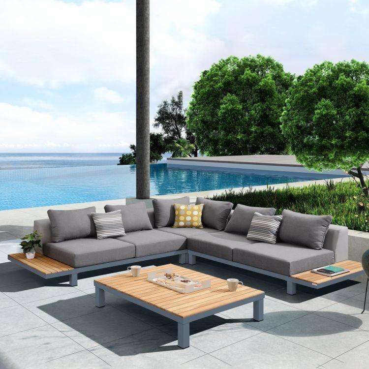 Polo 4 piece Outdoor Dark Gray Sectional Set : dark gray sectional - Sectionals, Sofas & Couches