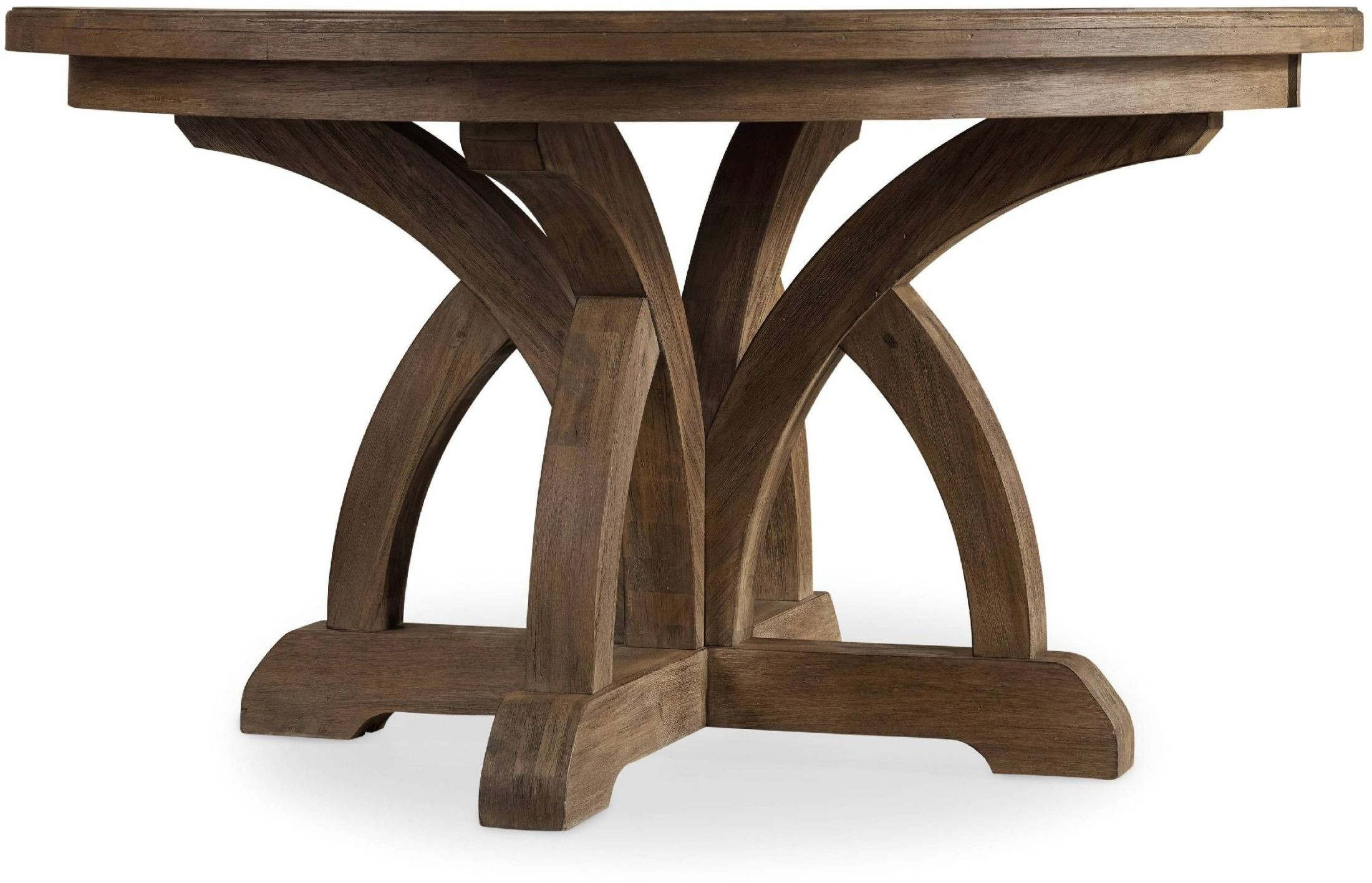 Corsica Light Wood Round Extendable Dining Table From Hooker Coleman Furniture