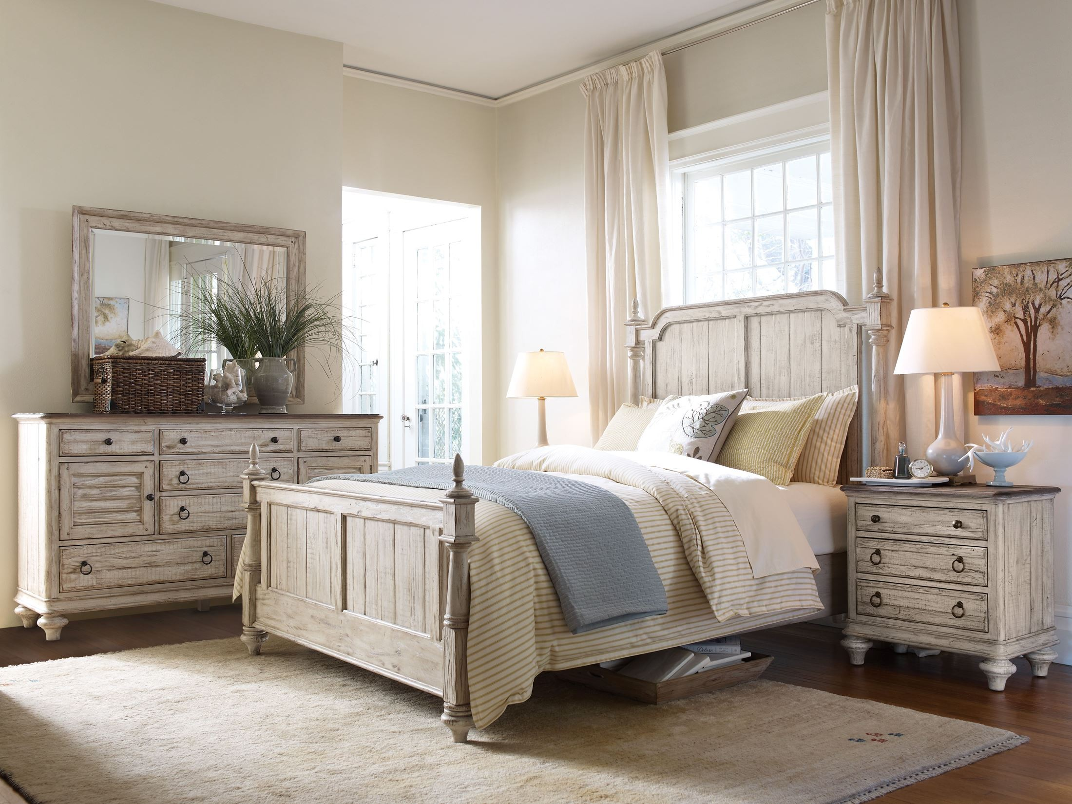 Weatherford Cornsilk Westland Bedroom Set from Kincaid 75 135P