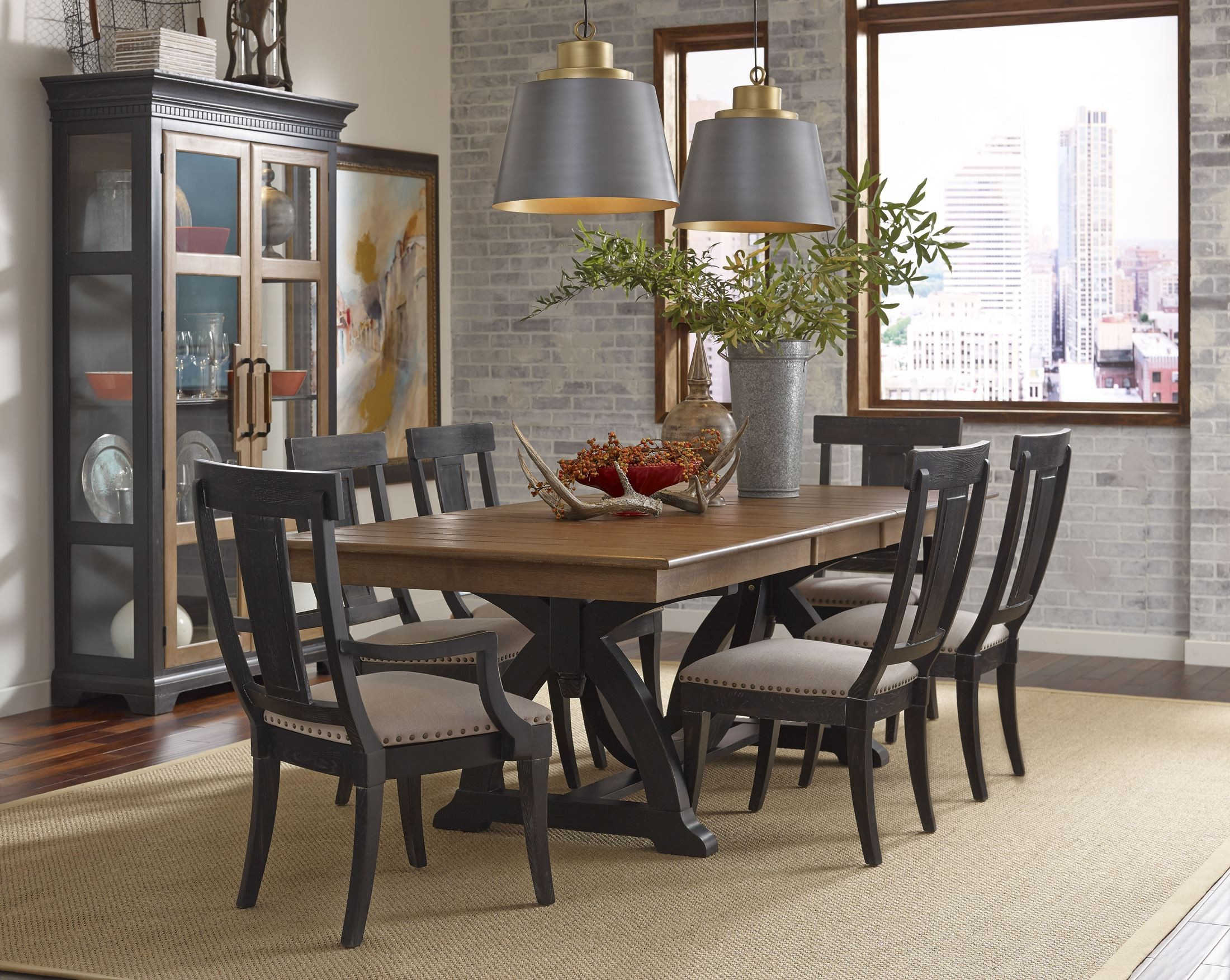 Stone Ridge Extendable Rectangular Trestle Dining Table