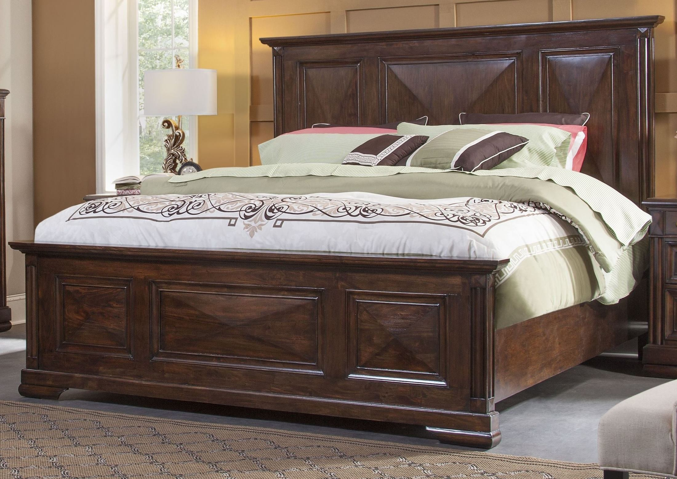 Tuscaloosa Chocolate Brown King Panel Bed From American Woodcrafters Coleman Furniture