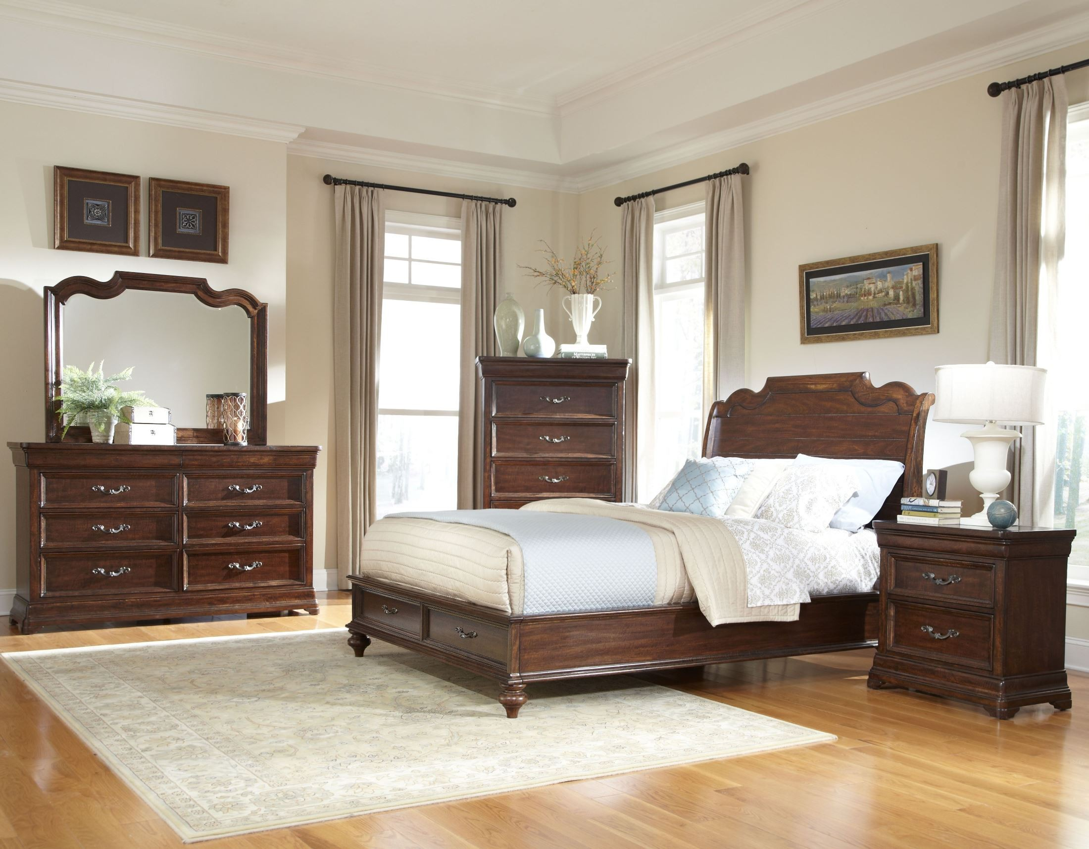 Signature Sleigh Storage Bedroom Set From American
