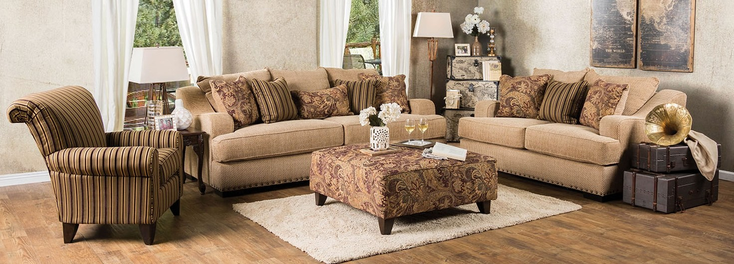 Arklow Tan Living Room Set from Furniture of America ...