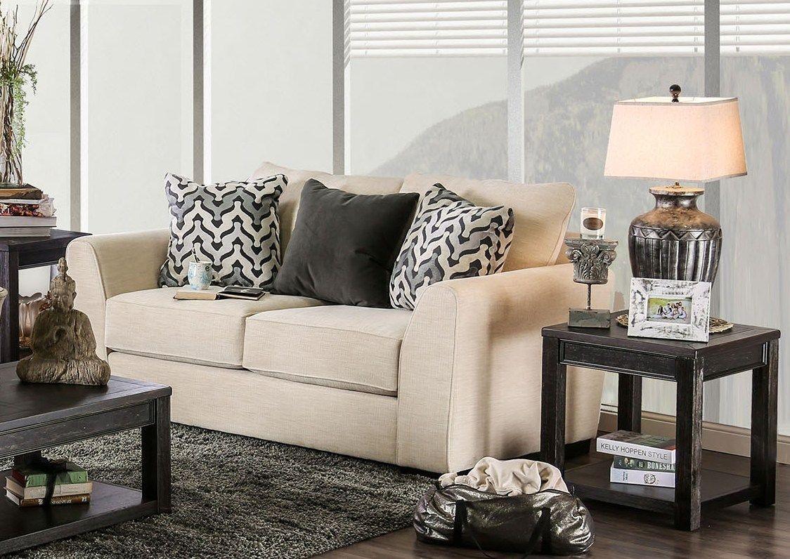 durand ivory living room set sm1274 sf furniture of america. Black Bedroom Furniture Sets. Home Design Ideas