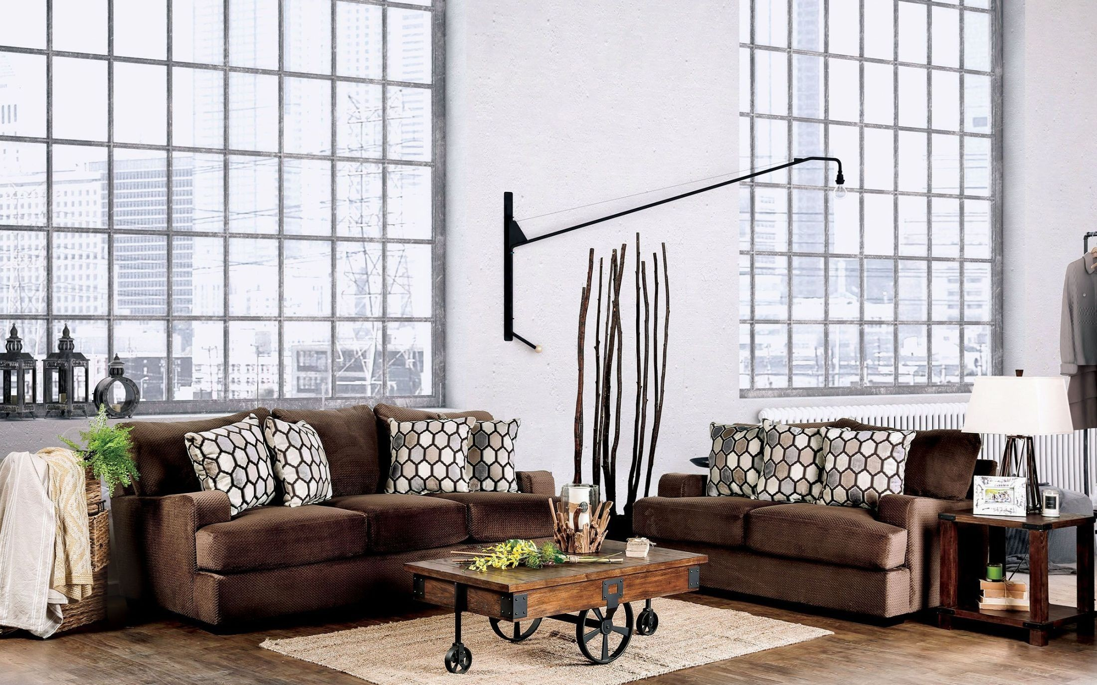 Glynis Chocolate Living Room Set from Furniture of America | Coleman ...