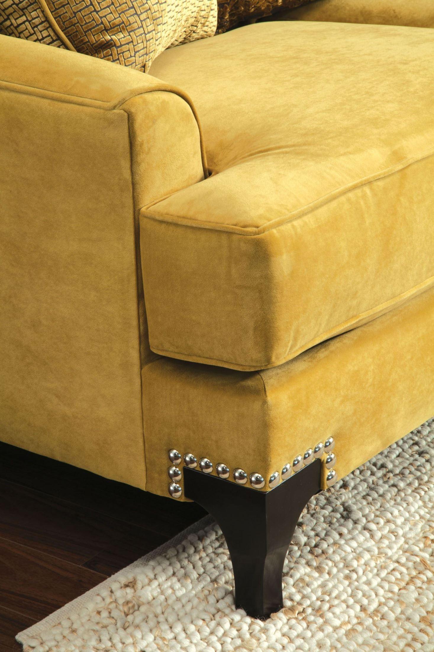 Viscontti Gold Sofa From Furniture Of America Sm2201 Sf Coleman Furniture