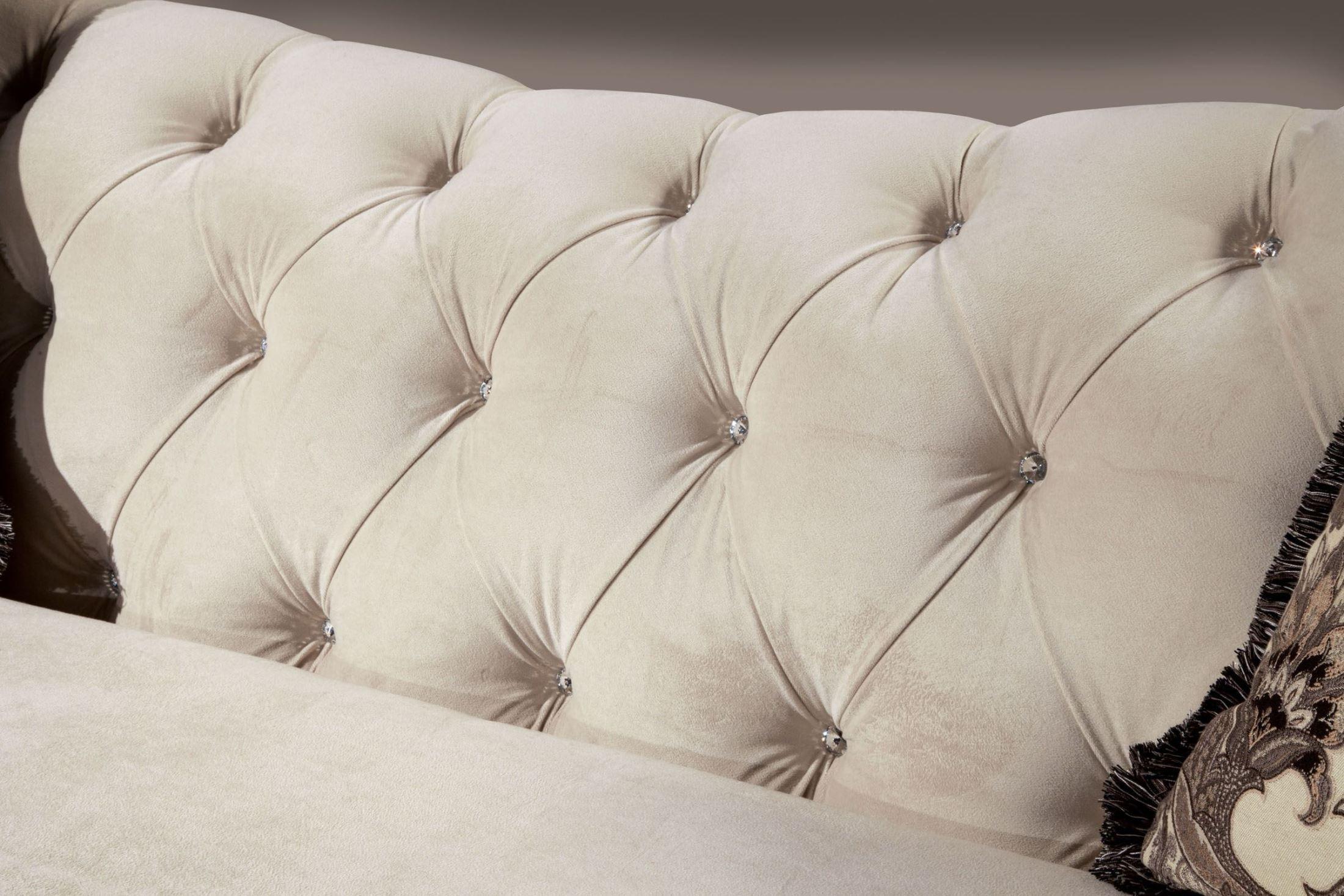 Antoinette Beige Premium Fabric Sofa from Furniture of America