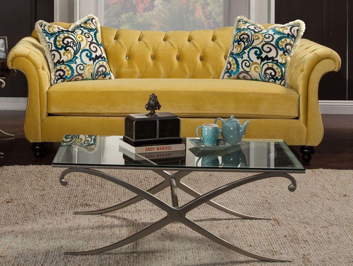 Antoinette Royal Yellow Sofa, SM2223-SF, Furniture Of America