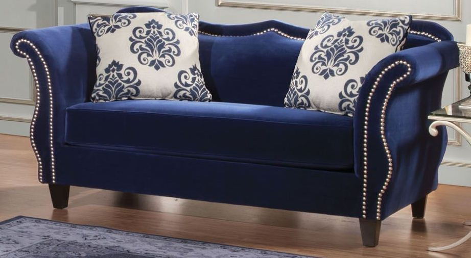 Zaffiro Royal Blue Loveseat from Furniture of America (SM2231-LV ...
