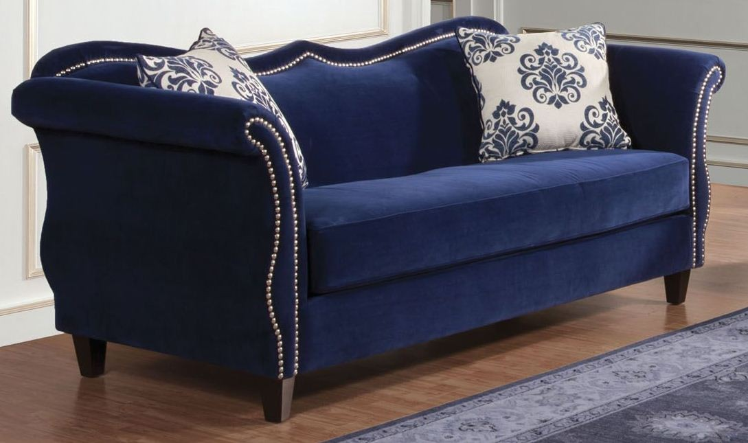 Zaffiro Royal Blue Living Room Set From Furniture Of America Sm2231 Sf Coleman Furniture