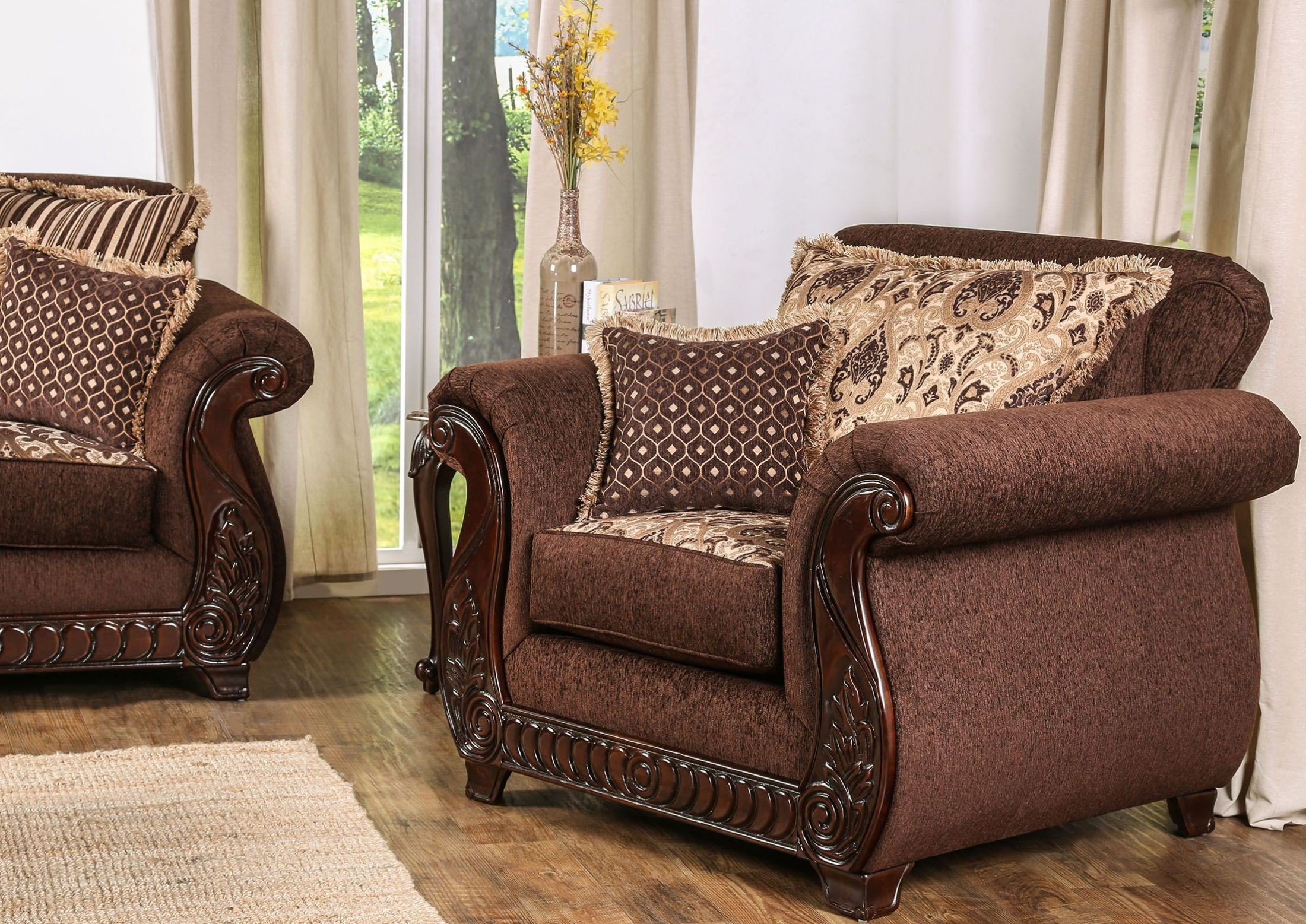 Tabitha Brown Chair from Furniture of America