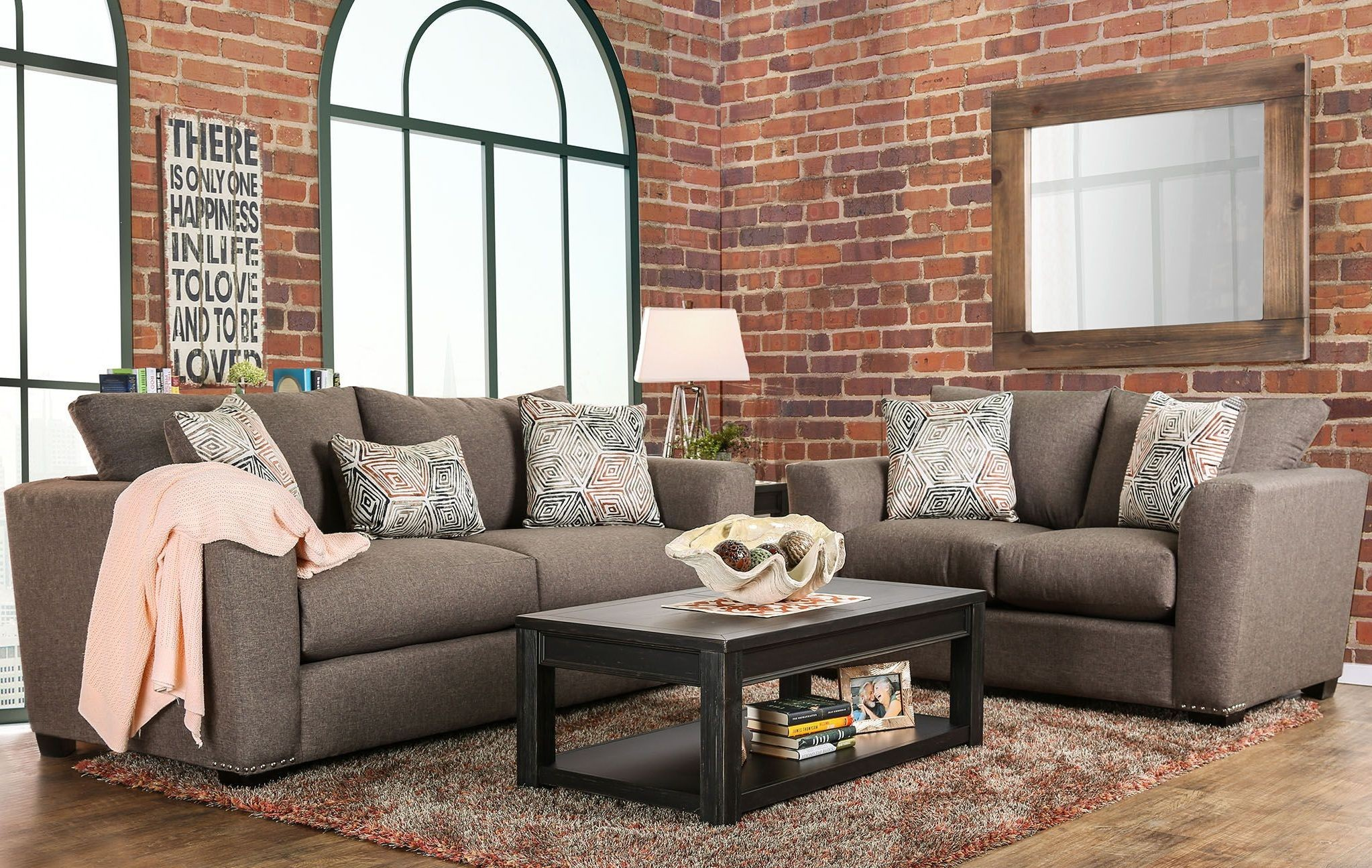 Bensen Brown Upholstered Living Room Set From Furniture Of America Coleman Furniture