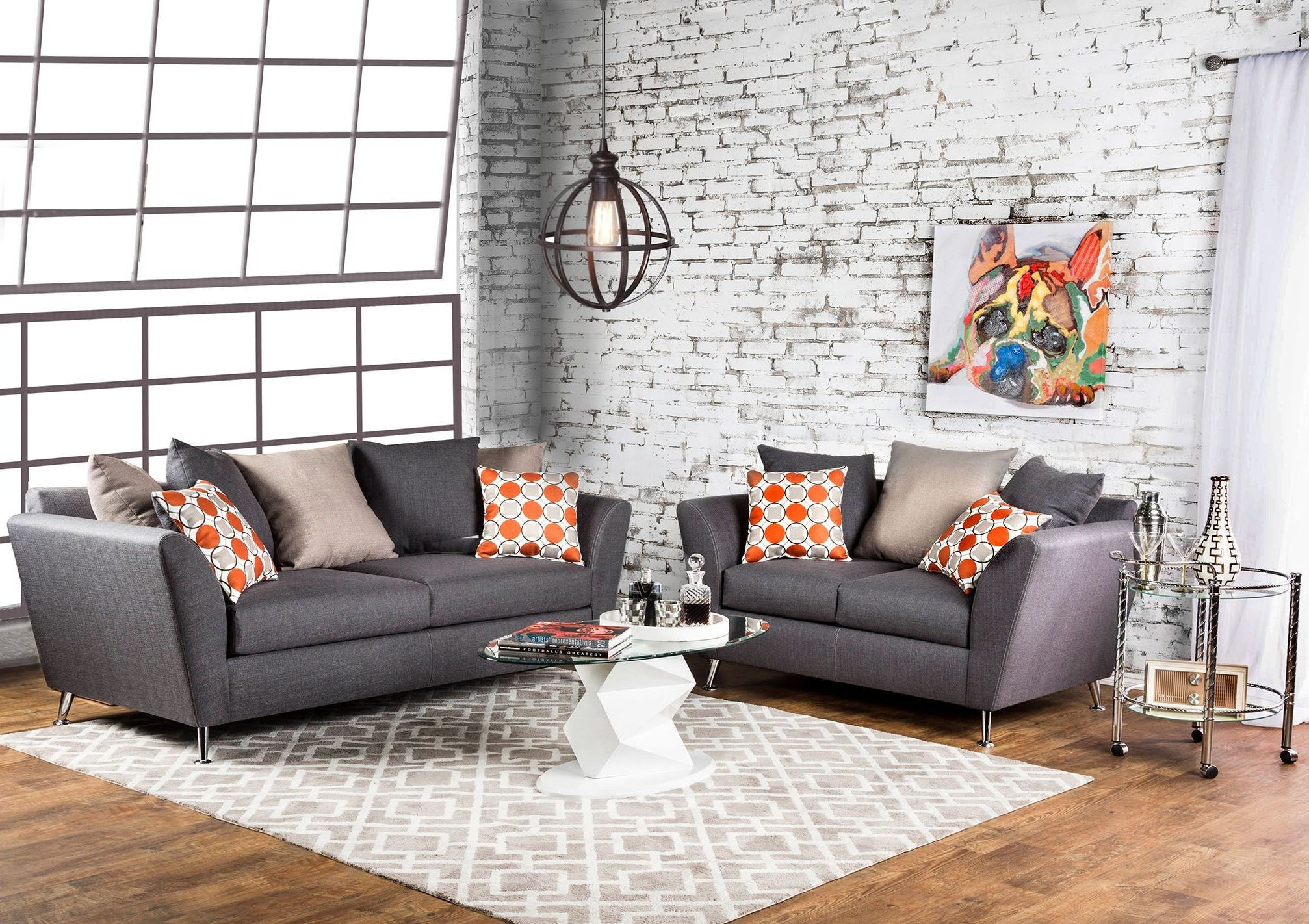 Belfield Gray Living Room Set from Furniture of America | Coleman ...