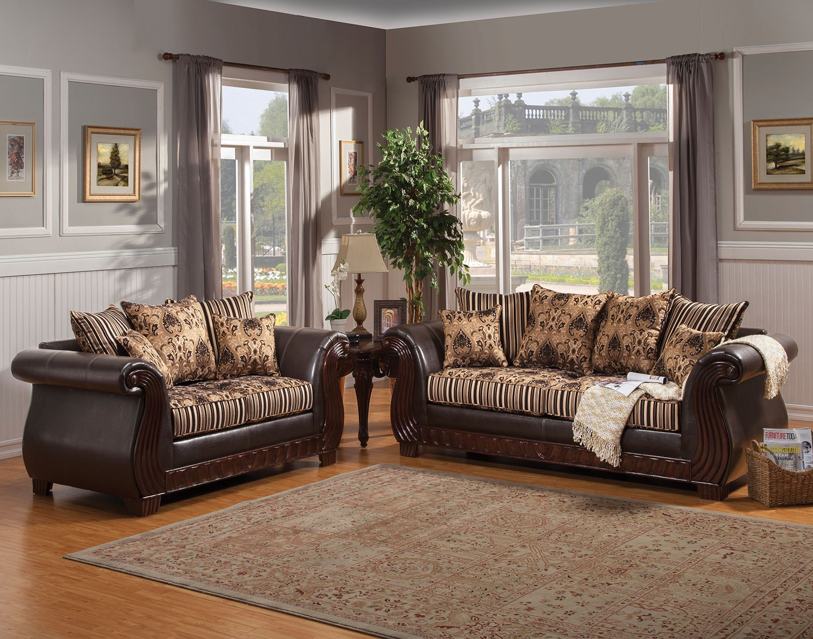 Rutherford Black Living Room Set From Furniture Of America Coleman Furniture