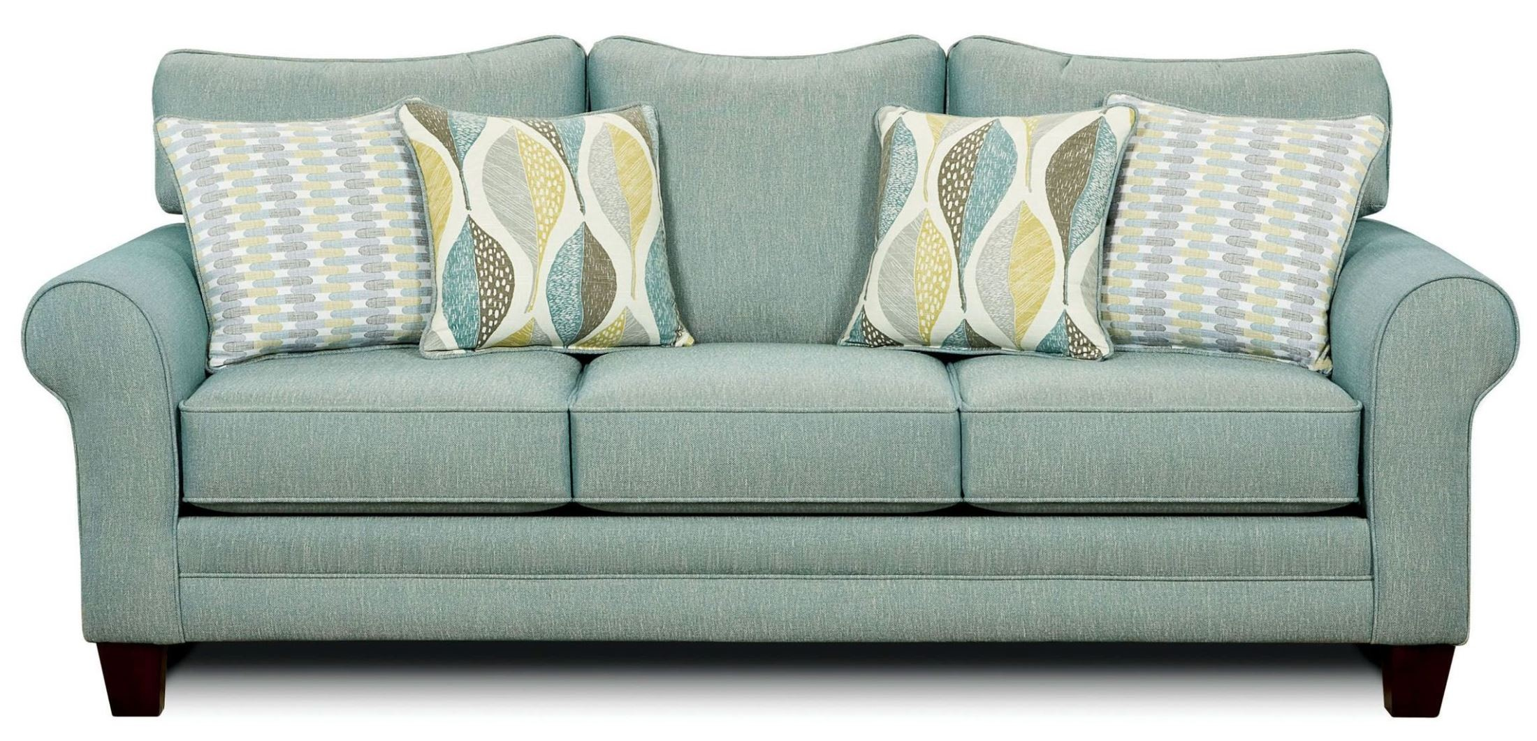 Brubeck soft teal sofa from furniture of america sm8140 for Buy sofa online usa