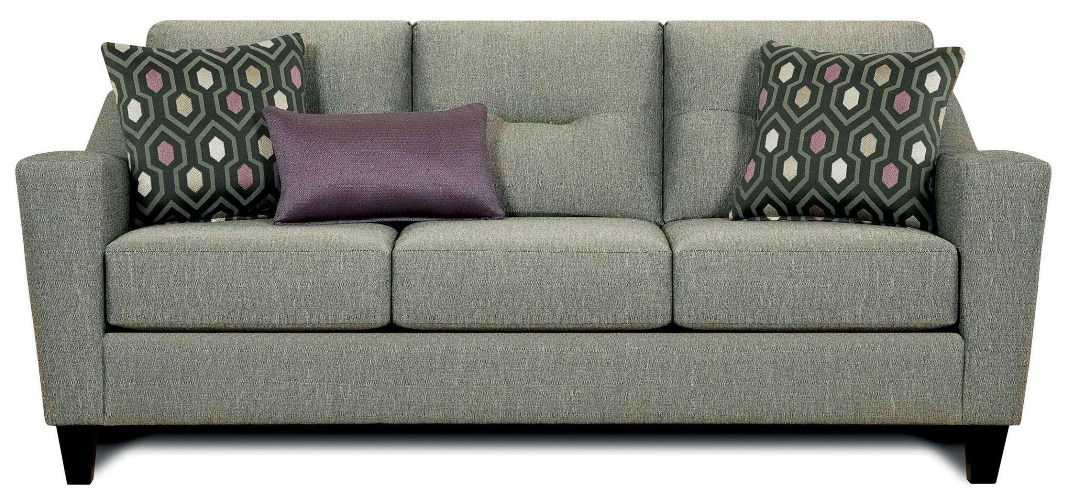 Coltrane Gray Fabric Sofa from Furniture of America SM8210 SF