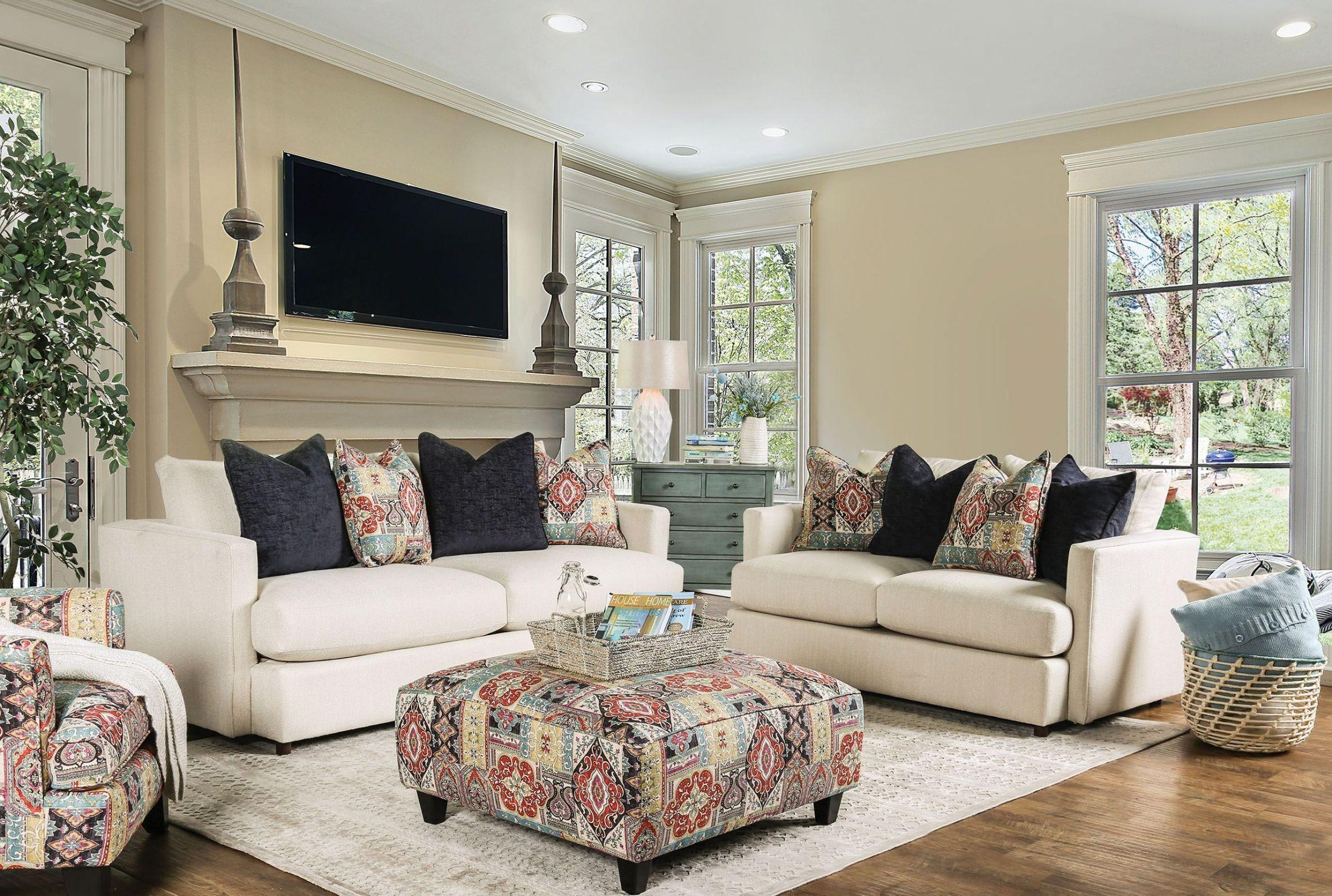 Pomfret Beige Living Room Set From Furniture Of America