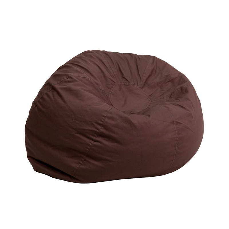 Small Solid Brown Kids Bean Bag Chair From Renegade