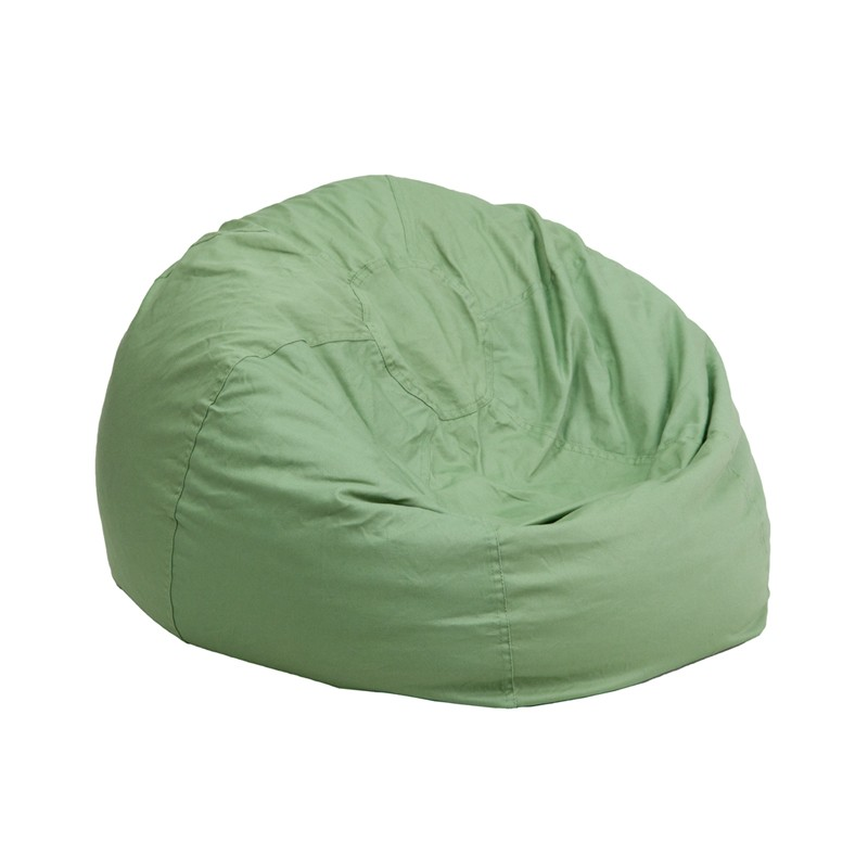 Small Solid Green Kids Bean Bag Chair From Renegade