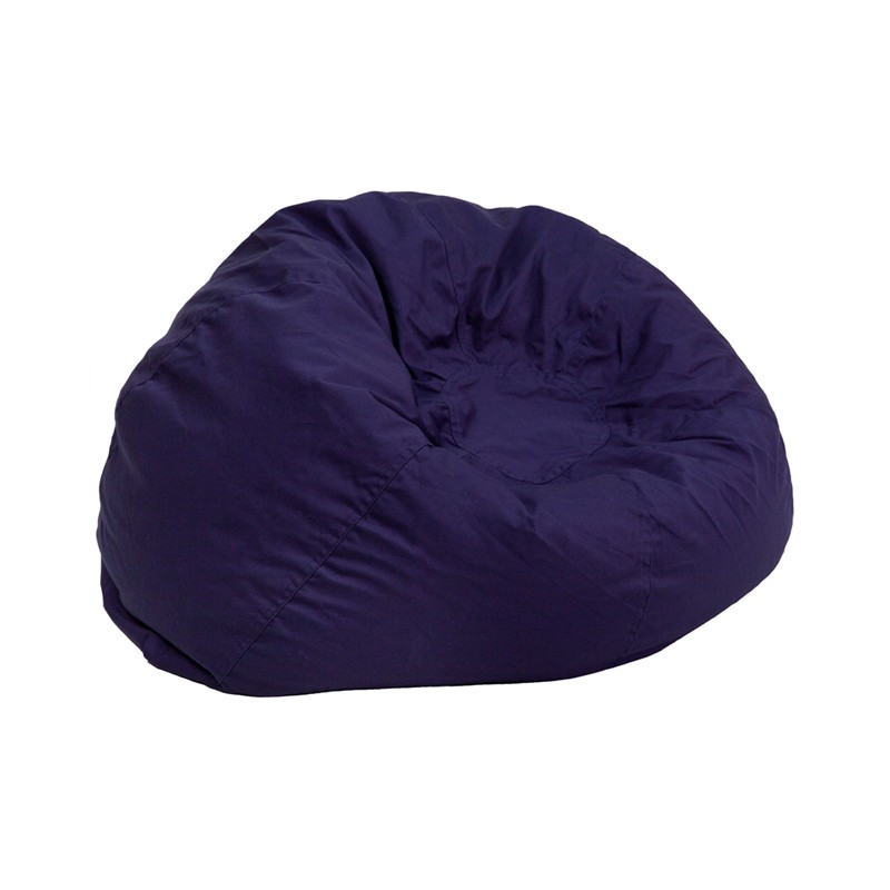 Small Solid Navy Blue Kids Bean Bag Chair From Renegade