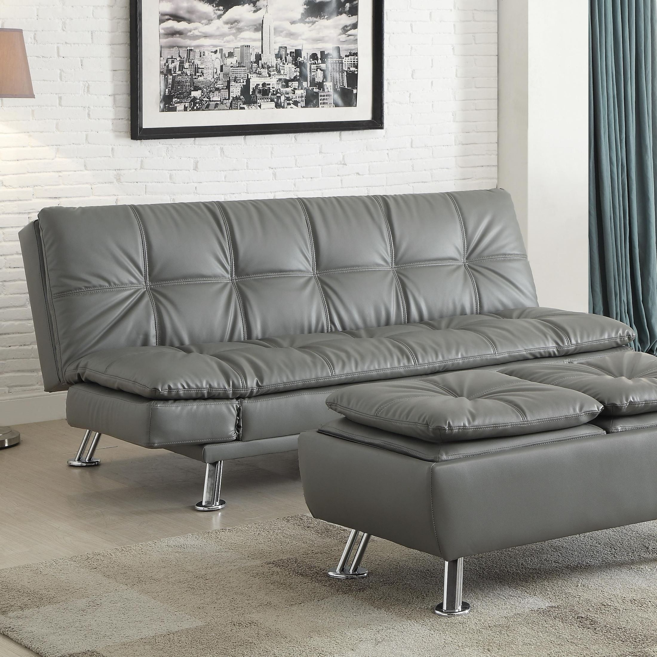 futon living room sets dilleston futon style living room set from coaster 500096 13257