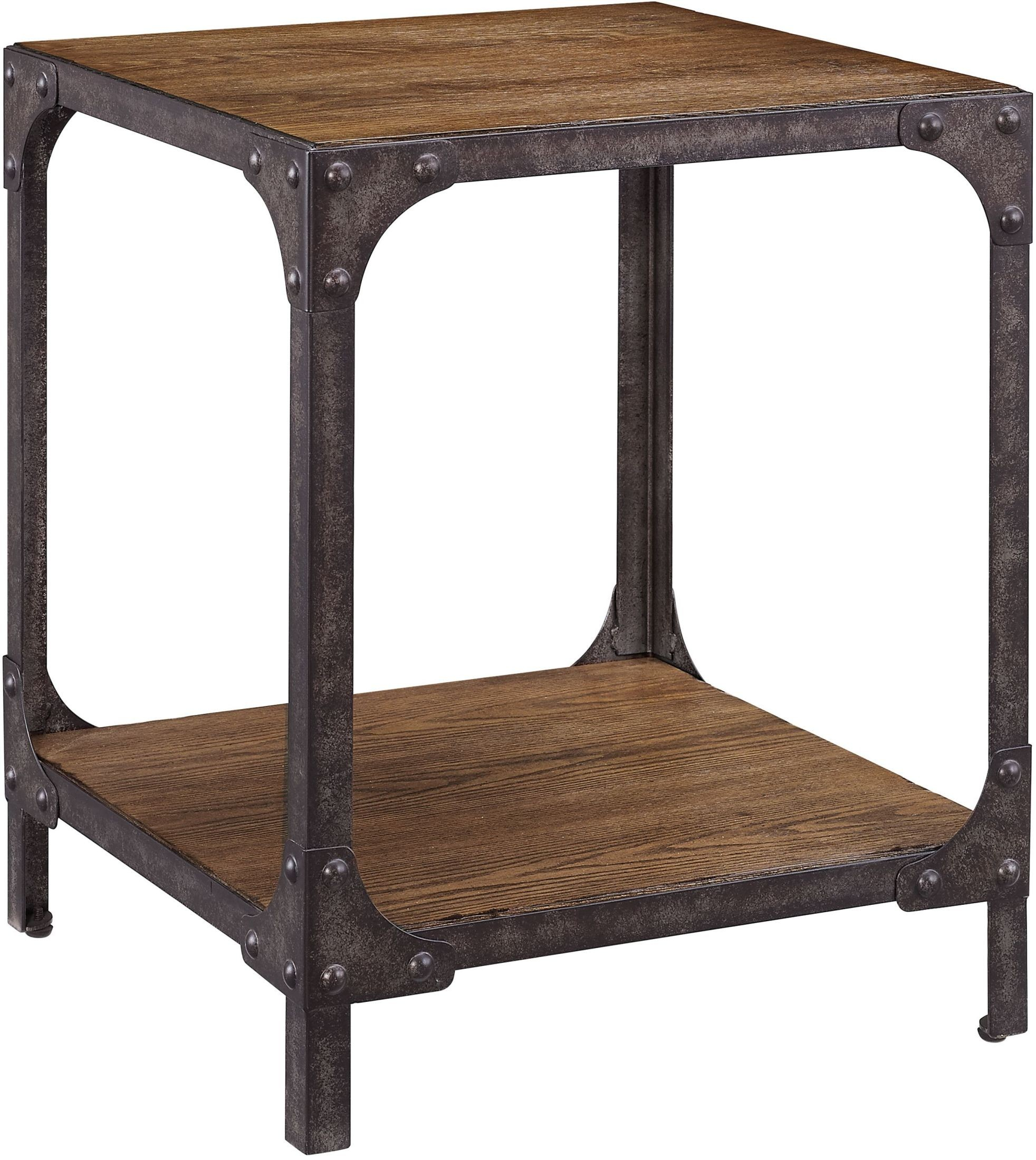 irwin wood and metal end table from pulaski coleman furniture. Black Bedroom Furniture Sets. Home Design Ideas