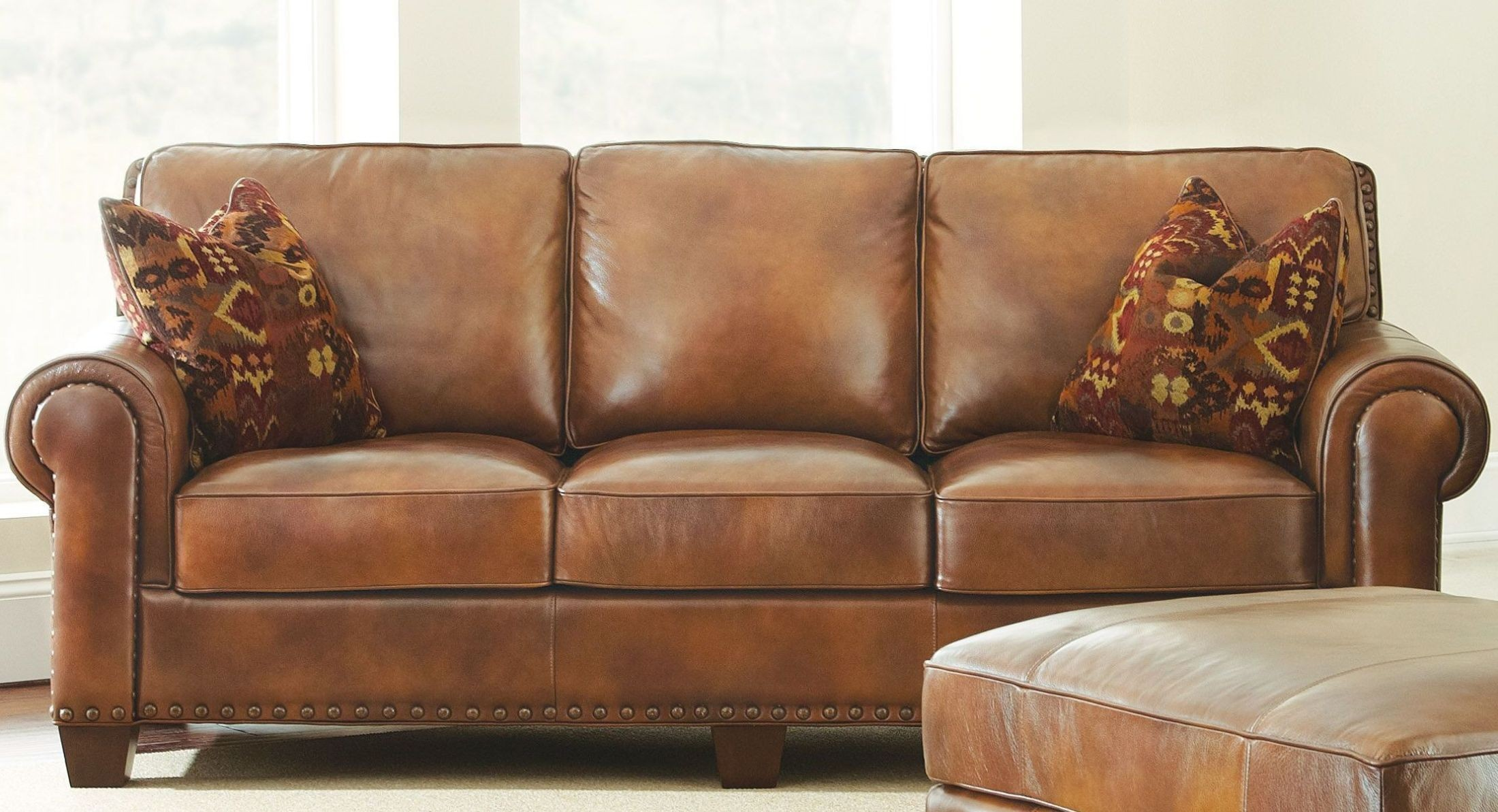 Silverado Caramel Brown Sofa from Steve