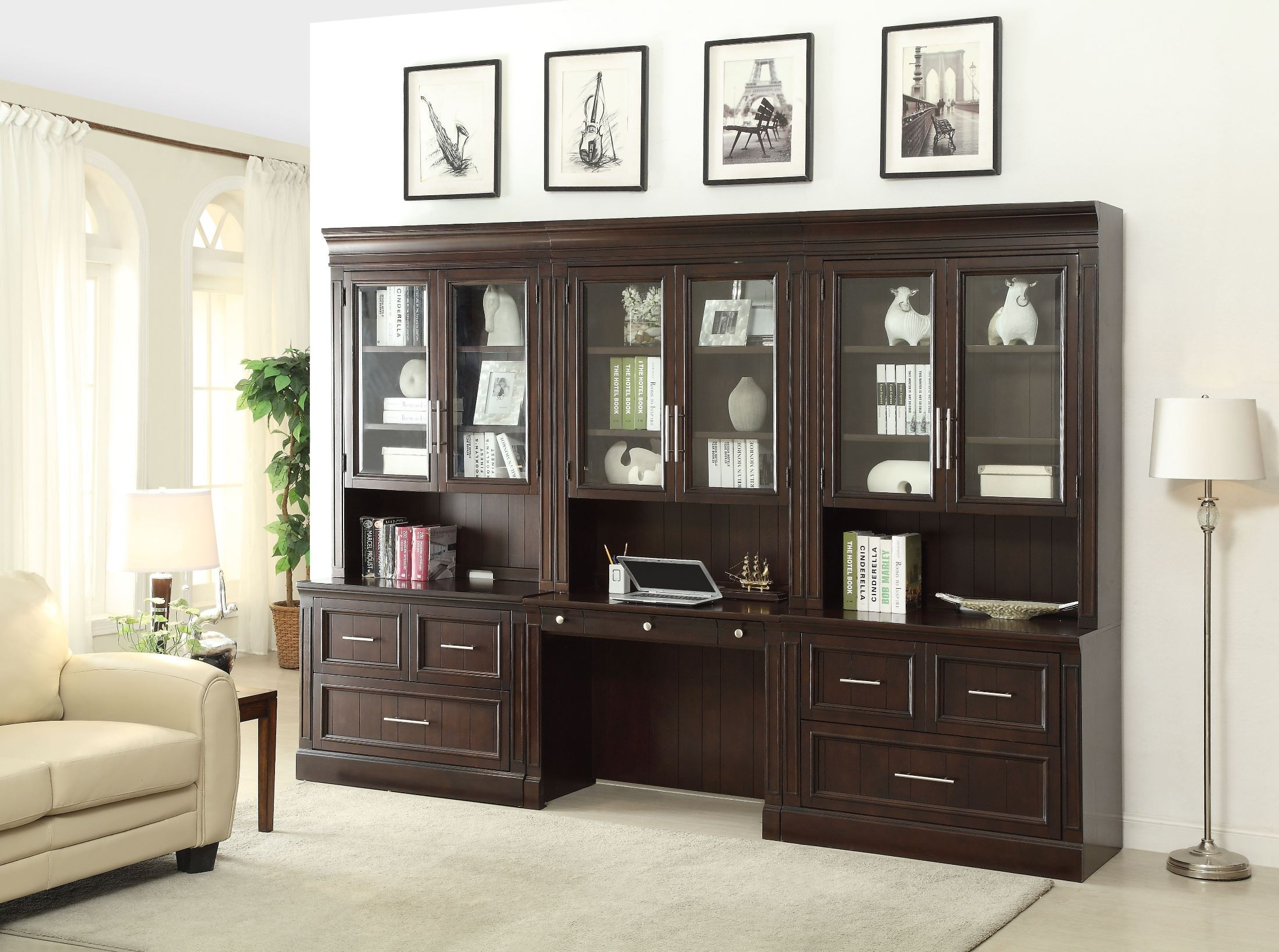Stanford Library Desk Wall Unit from Parker House STA 476 2 2