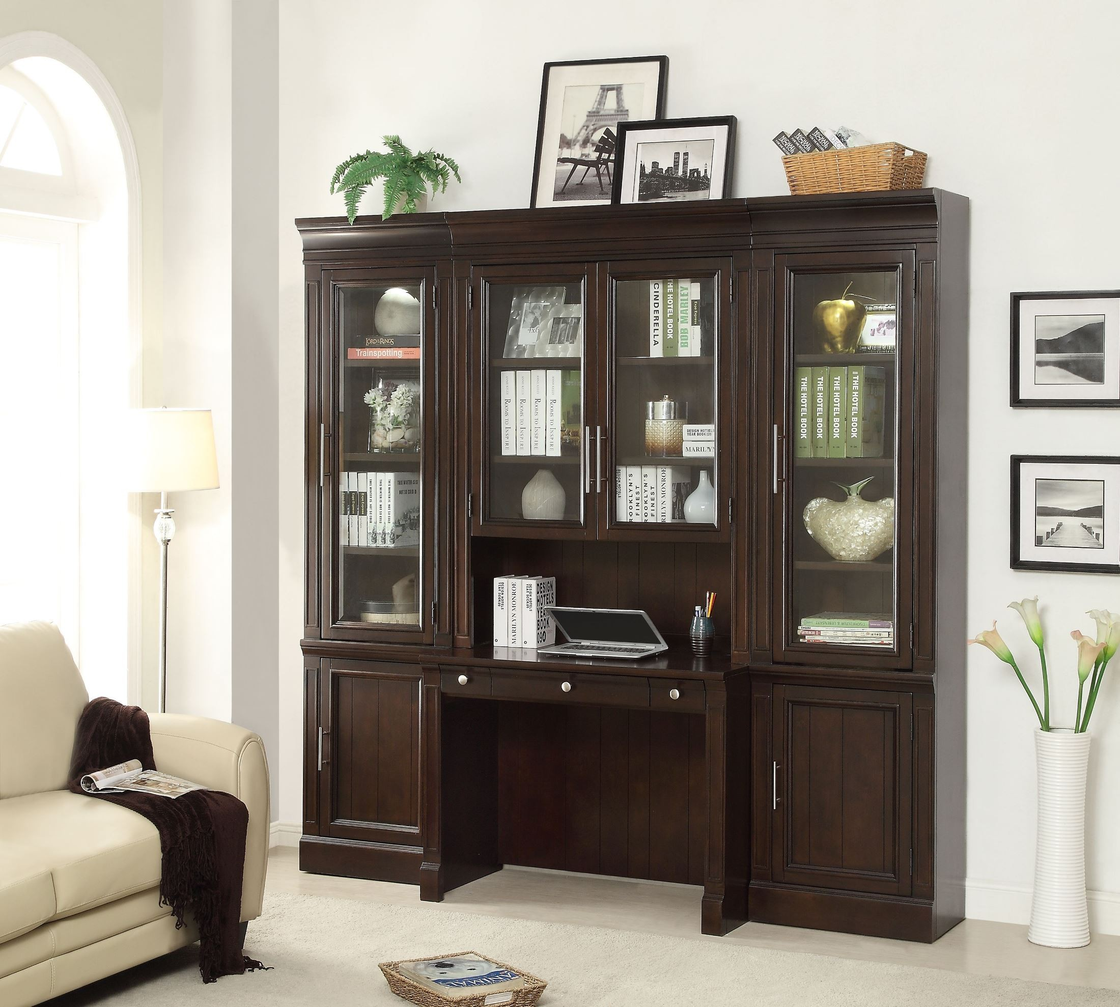 Small Wall Desk: Stanford Small Wall Desk Unit From Parker House (STA-463-2