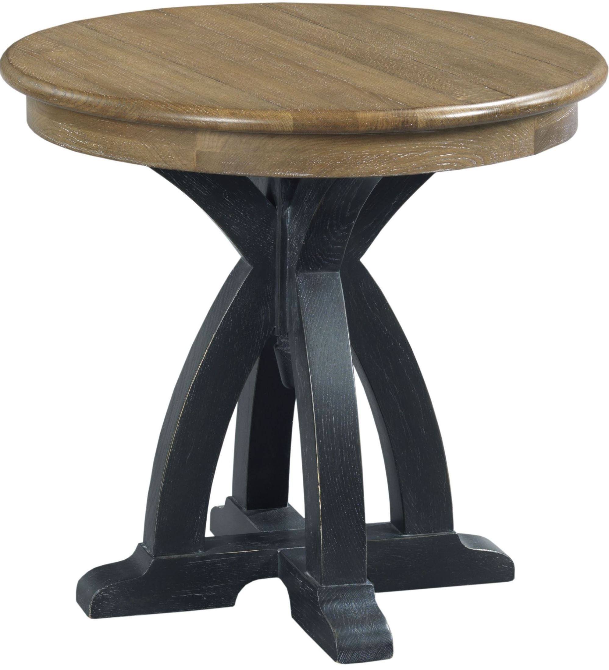 stone ridge round wood end table from kincaid 72 021 coleman furniture. Black Bedroom Furniture Sets. Home Design Ideas