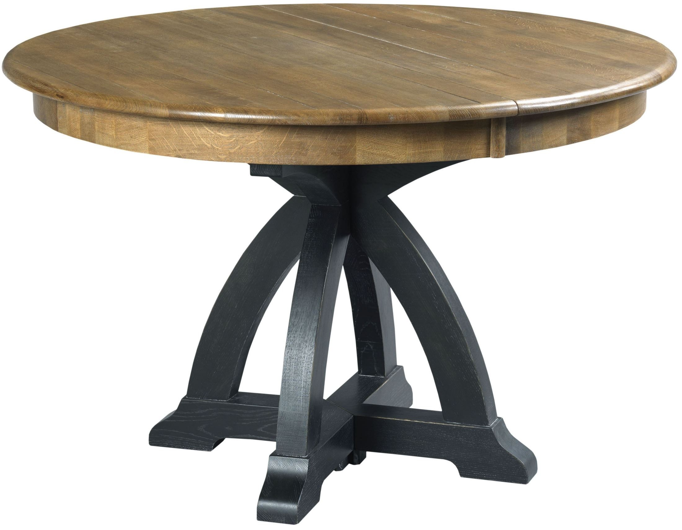 Stone ridge extendable round dining table from kincaid 72 for Stone dining table