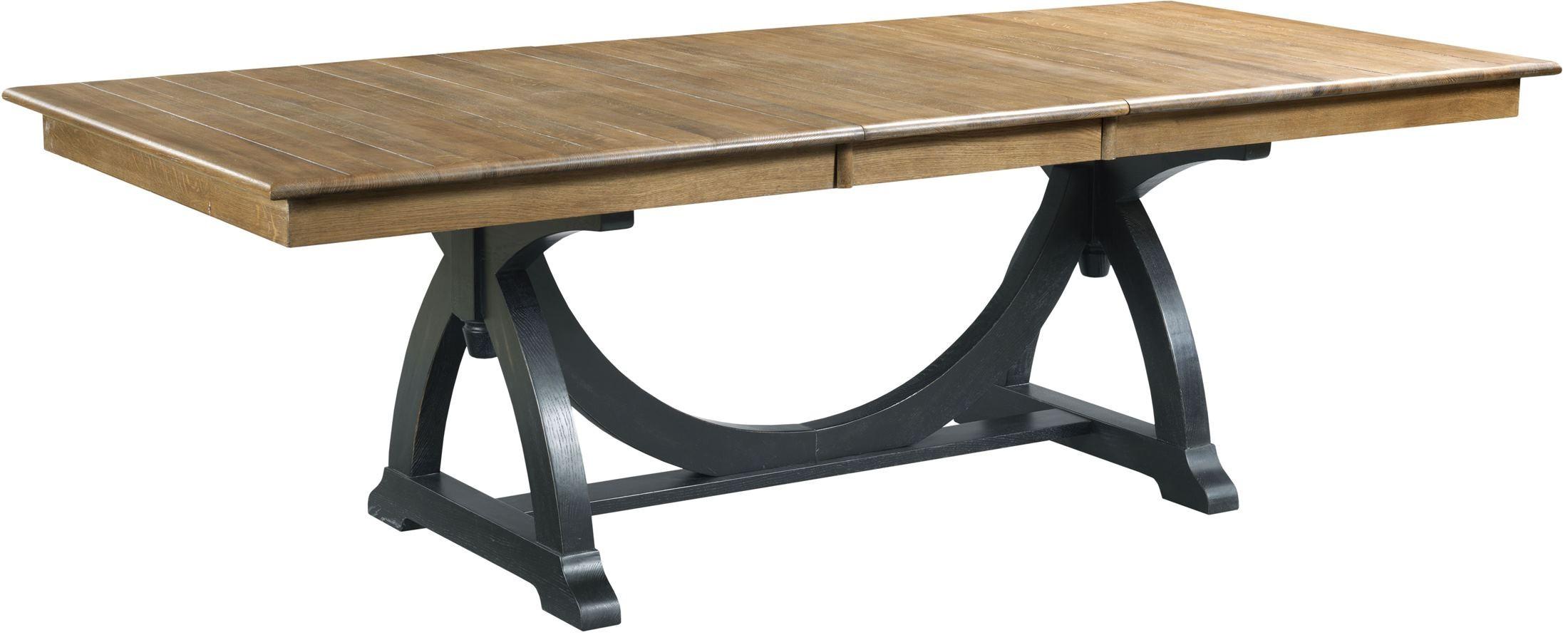 stone ridge extendable rectangular trestle dining table from kincaid 72 056p coleman furniture. Black Bedroom Furniture Sets. Home Design Ideas