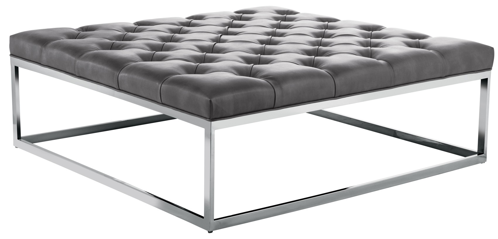 sutton square ottoman large in grey nobility from sunpan (34008