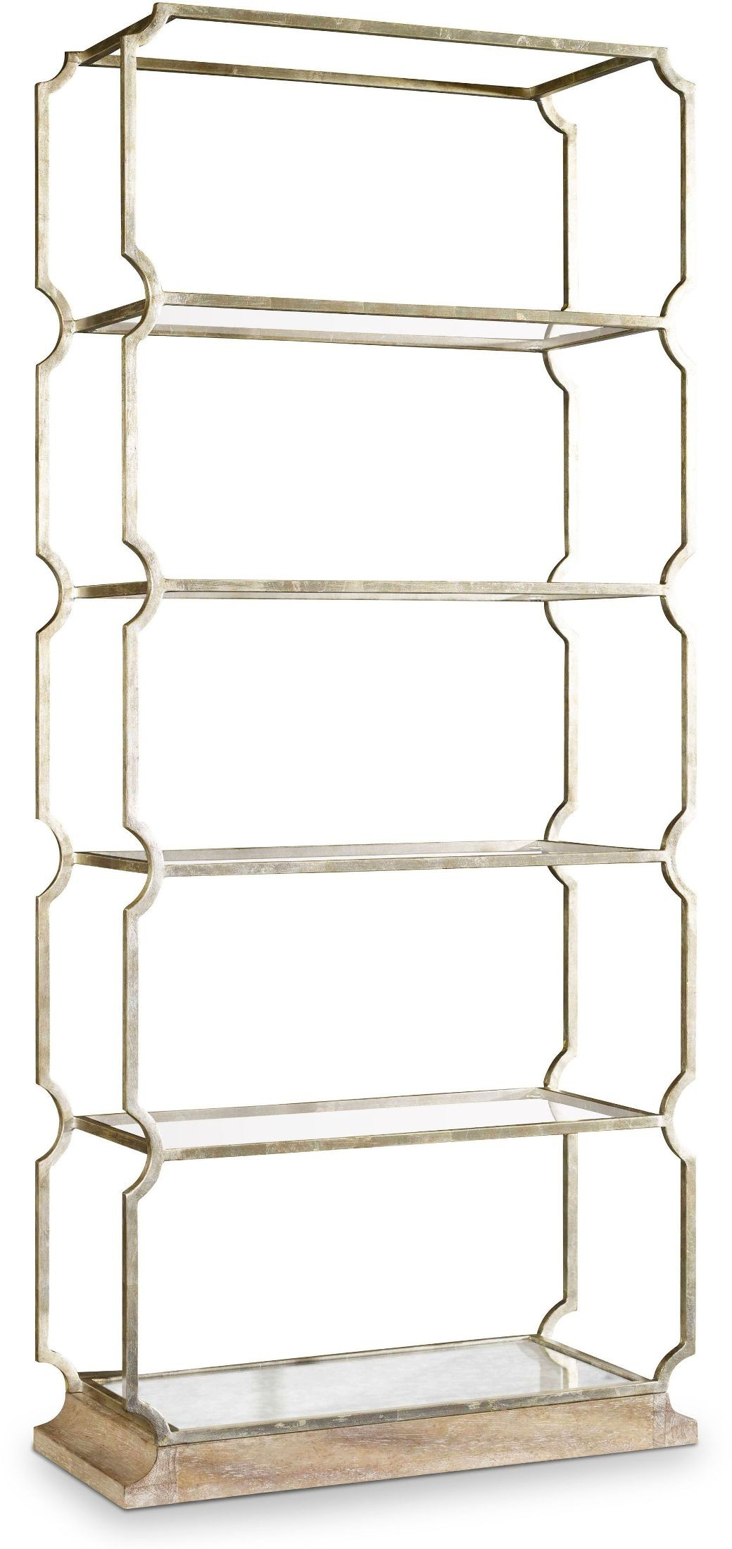 melange silver carter metal etagere from hooker coleman furniture. Black Bedroom Furniture Sets. Home Design Ideas
