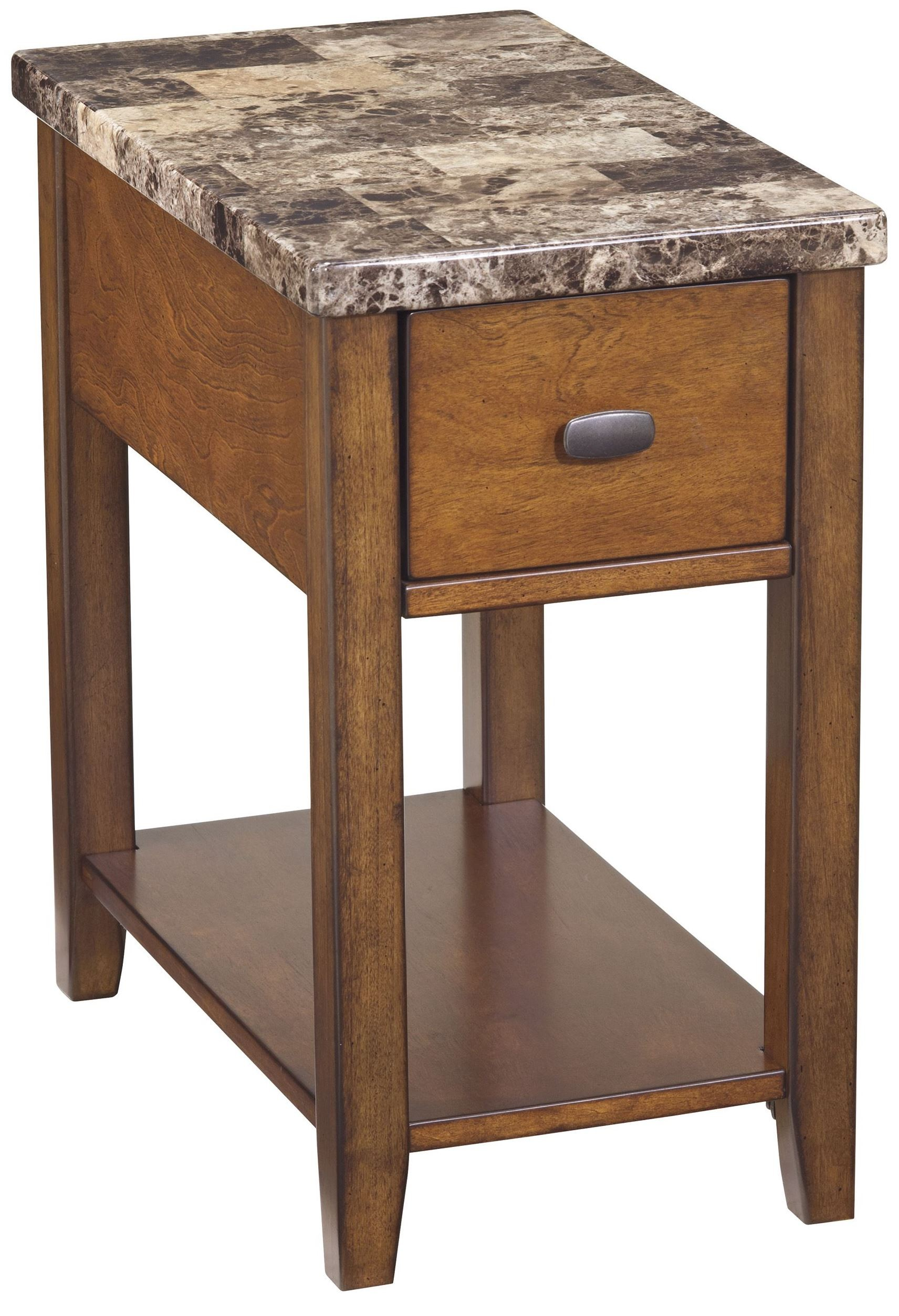 End Program Marble Top Chairside End Table From Ashley
