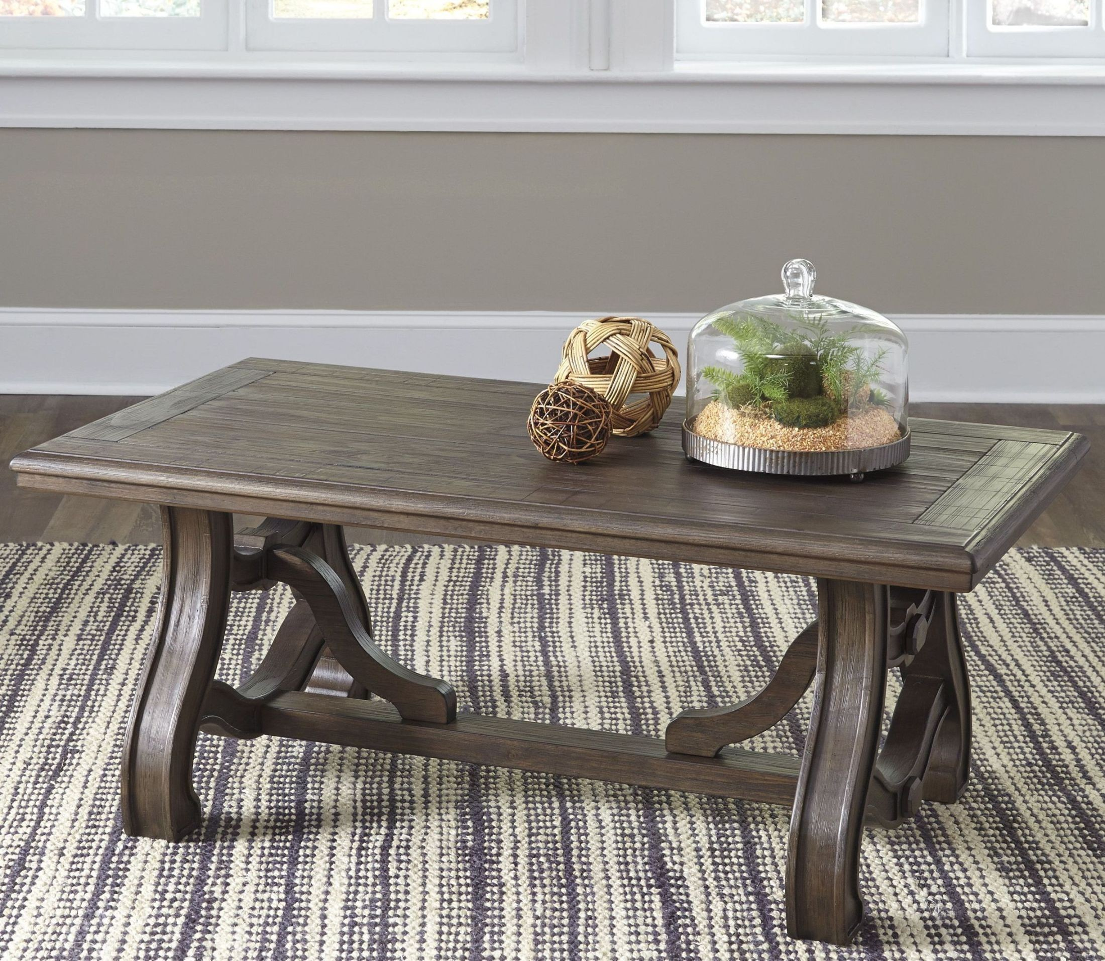 Tanobay Gray Rectangular Cocktail Table from Ashley