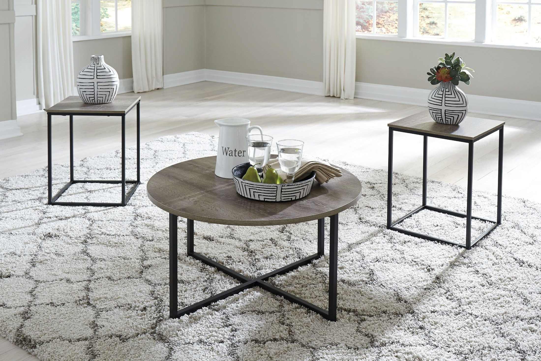 Wadeworth Two Tone 3 Piece Occasional Table Set from Ashley ...