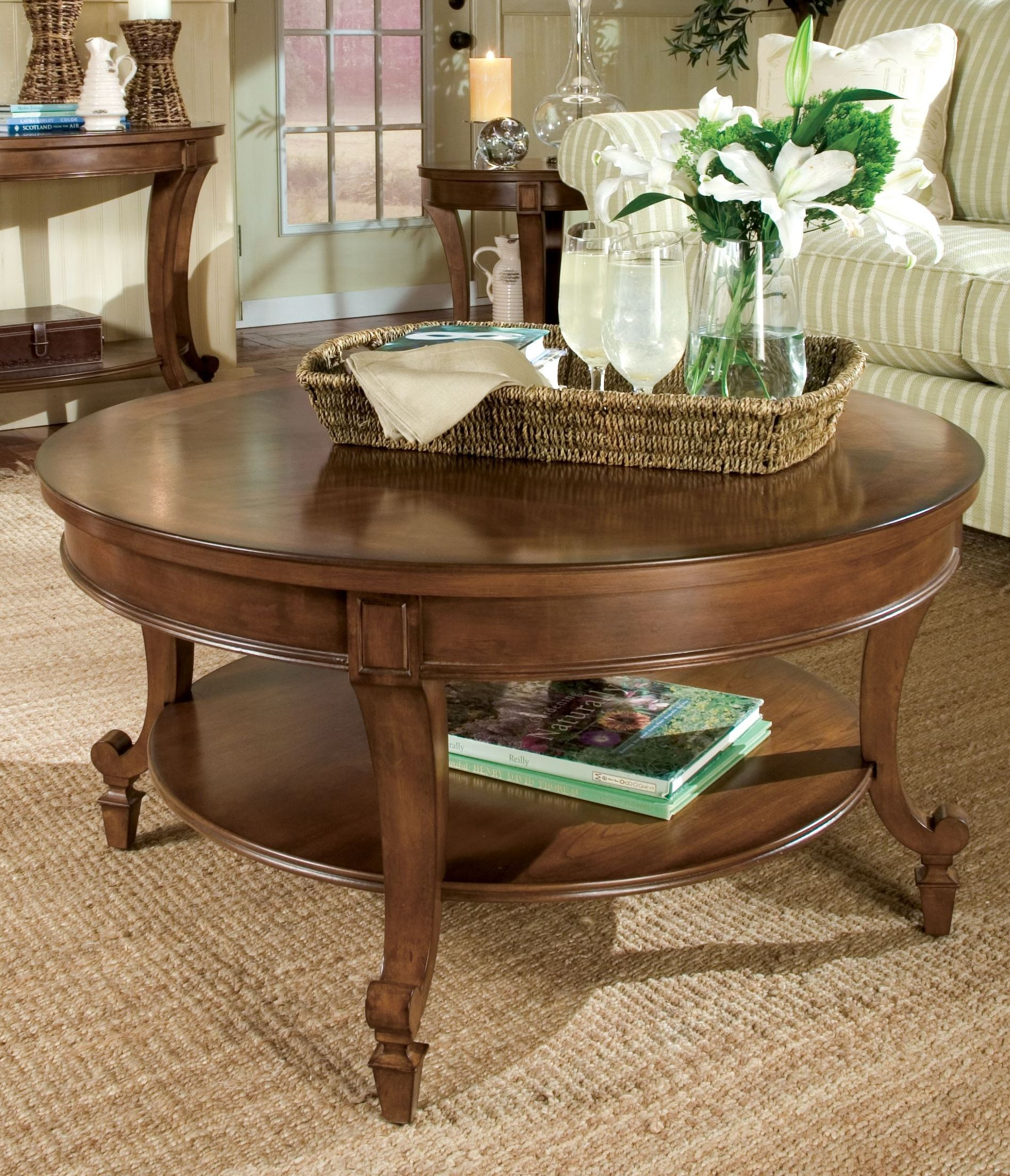 Aidan round cocktail table from magnussen home t1052 45 Round cocktail table