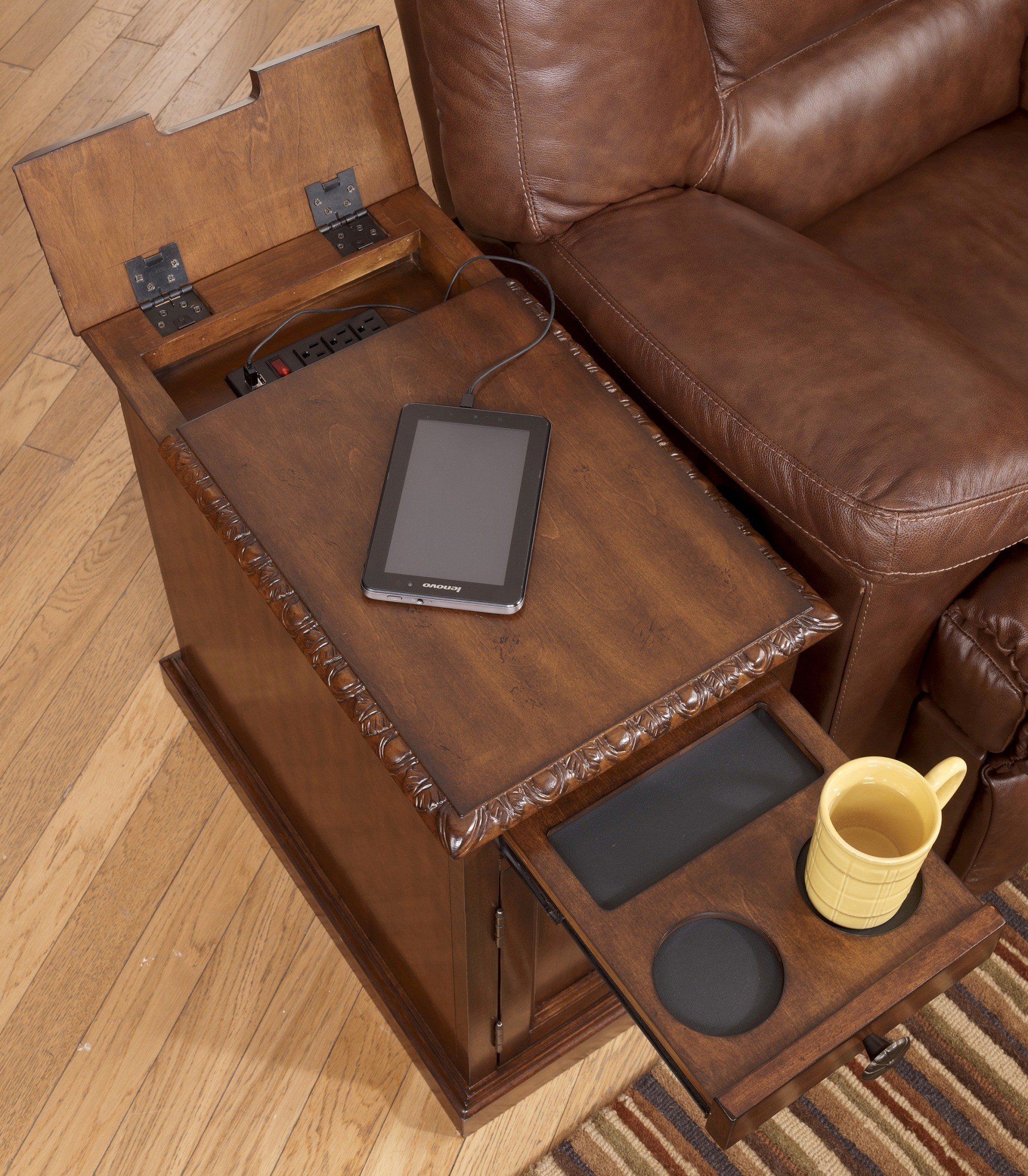 Dark Chairside End Table From Ashley T127 553 Coleman