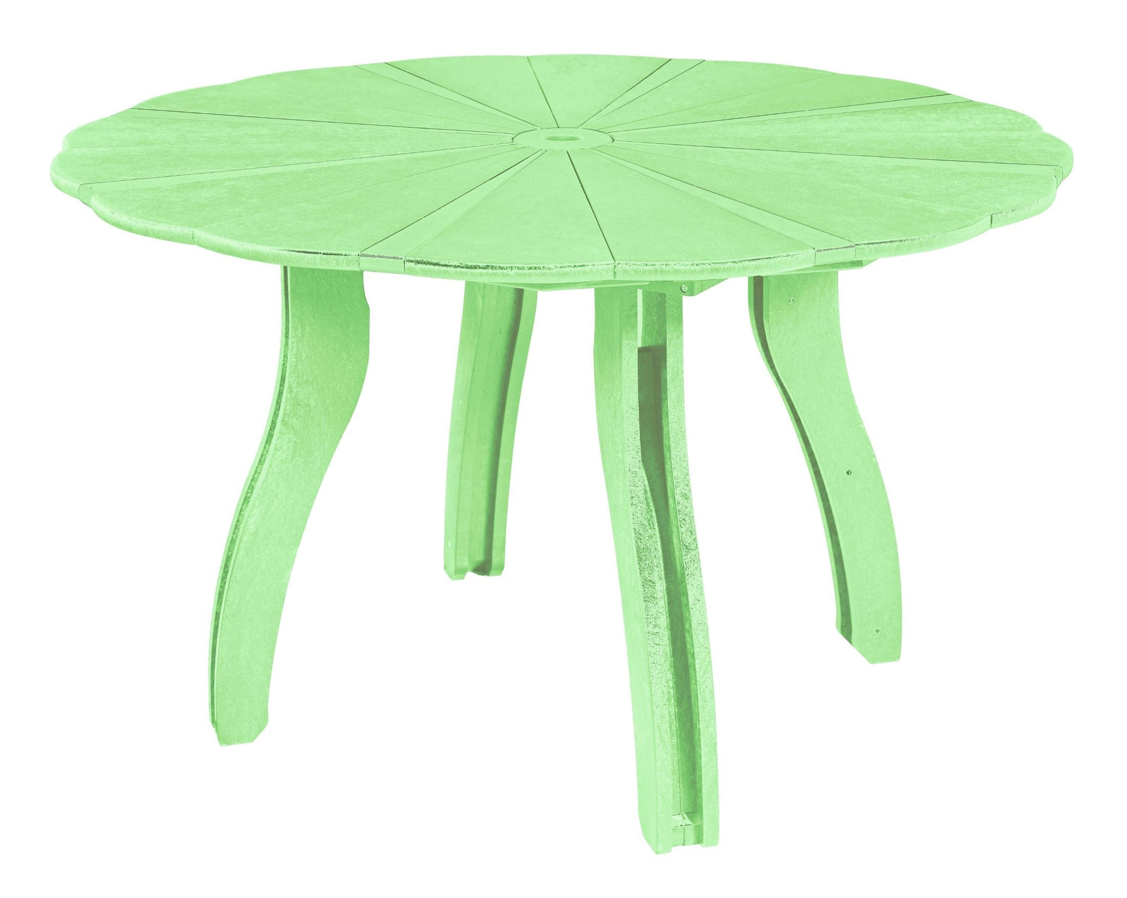 Generations Lime Green 52 Quot Scalloped Round Dining Table