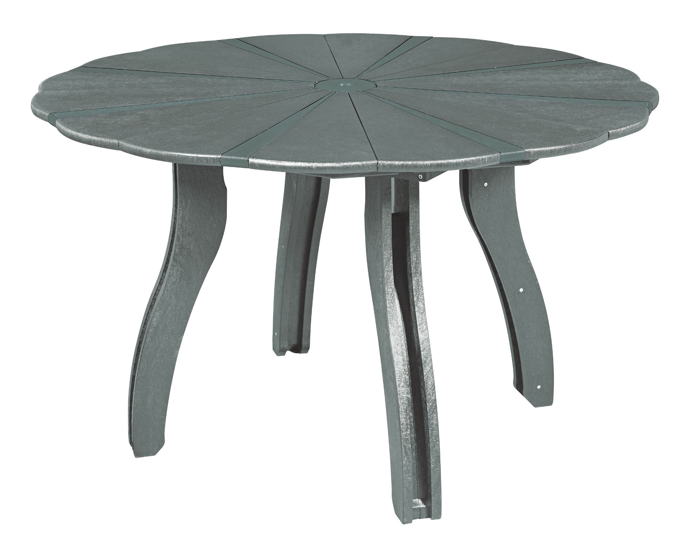 Generations slate 52 scalloped round dining table from cr for Round table 52 nordenham