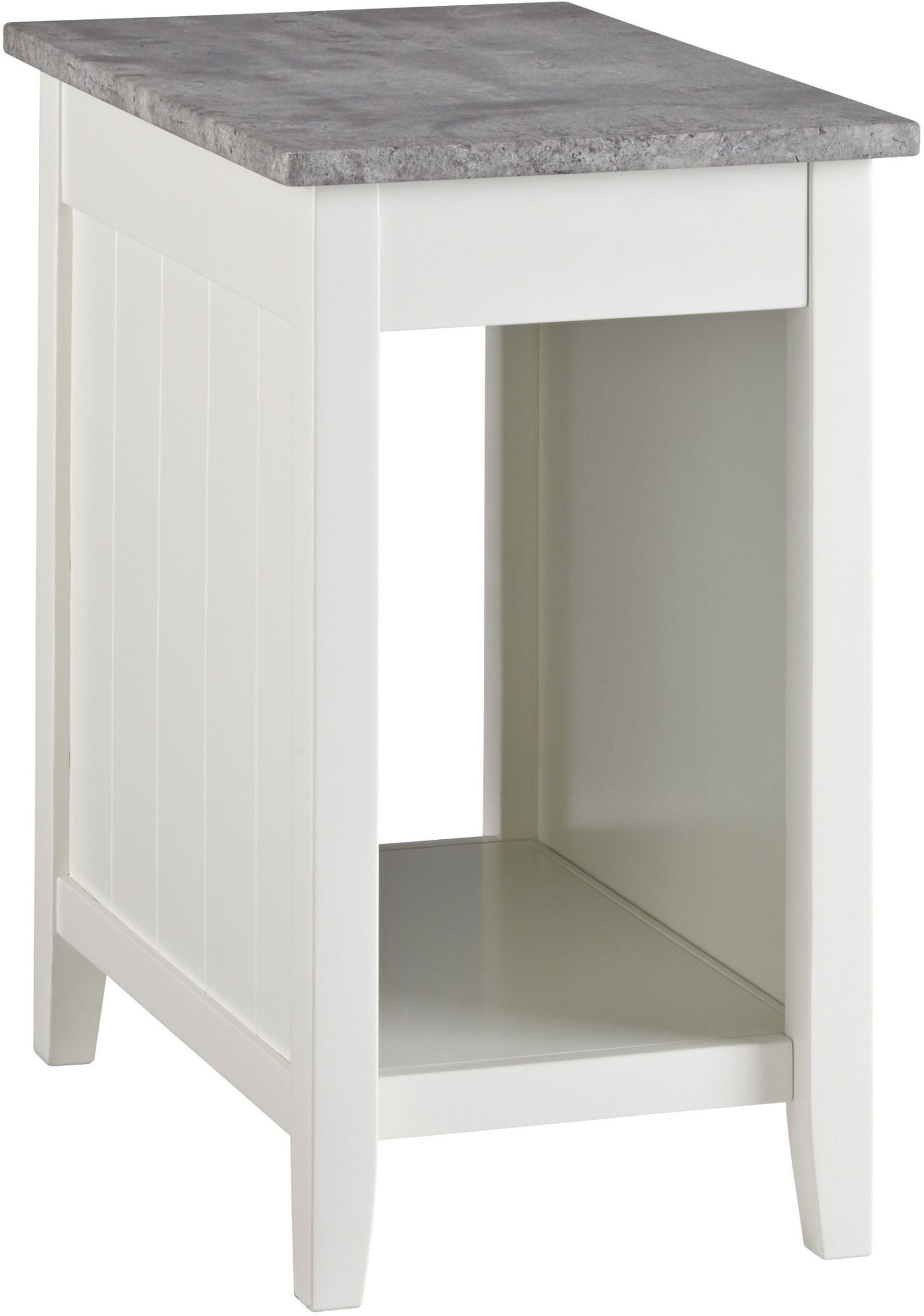 Diamenton White Chair Side End Table From Ashley Coleman