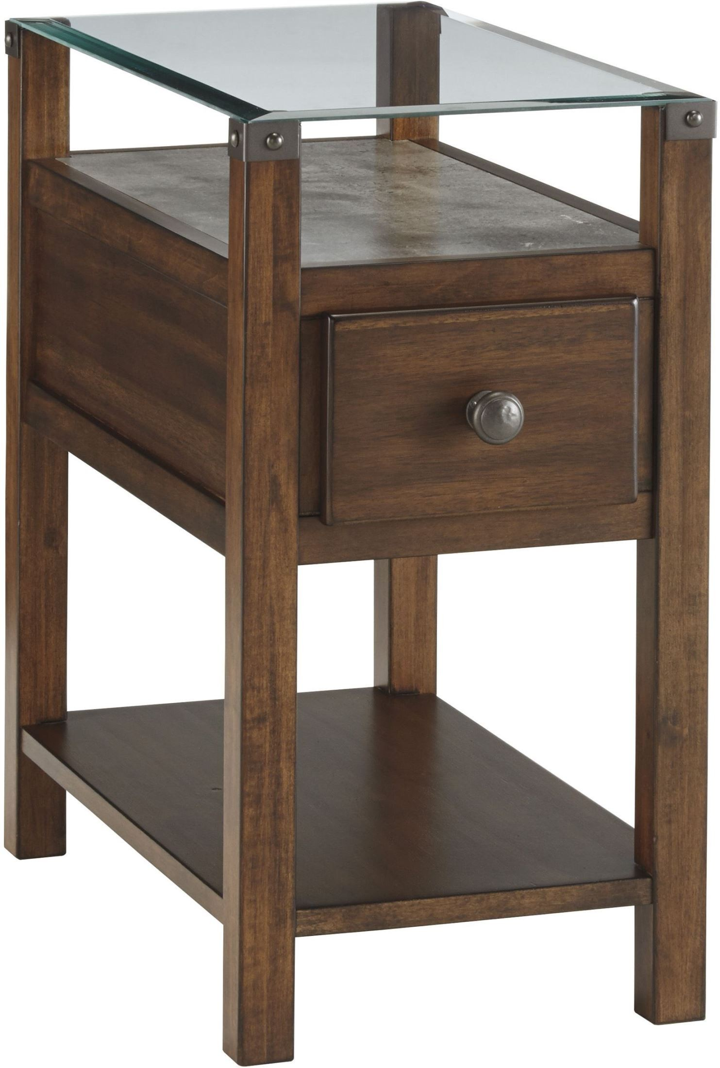 diamenton black drawer chair side end table from ashley coleman furniture. Black Bedroom Furniture Sets. Home Design Ideas