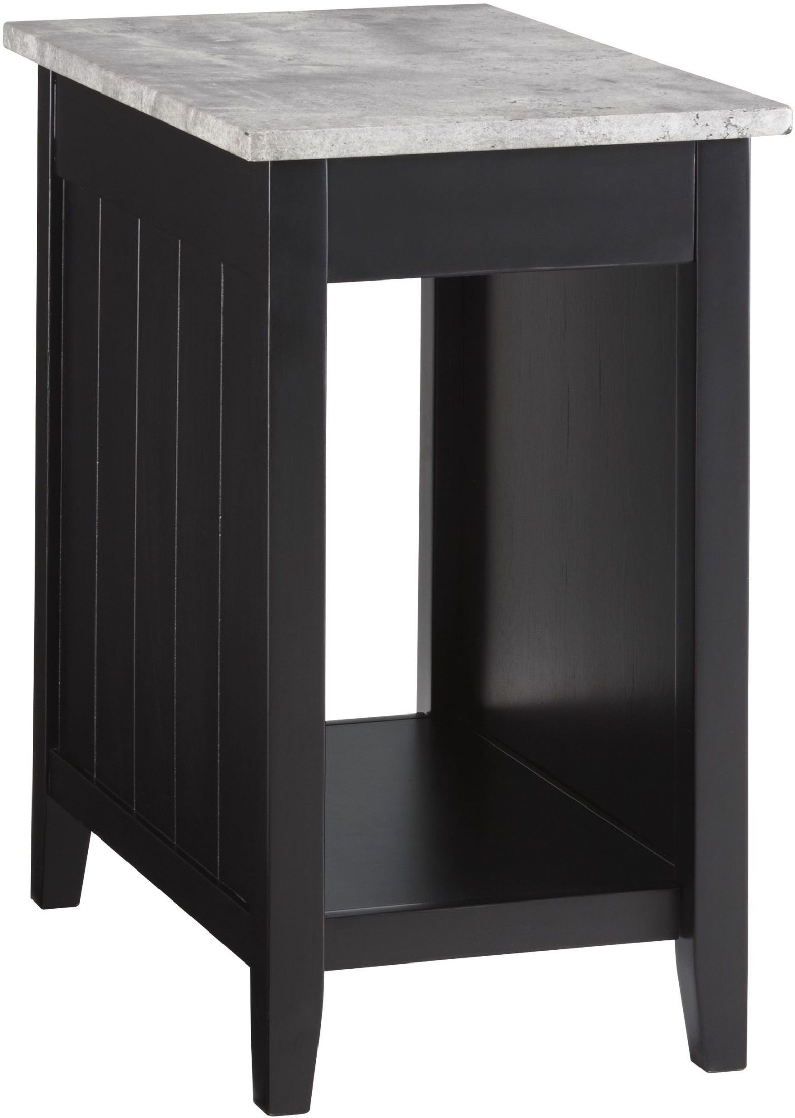 diamenton black and gray chair side end table from ashley. Black Bedroom Furniture Sets. Home Design Ideas
